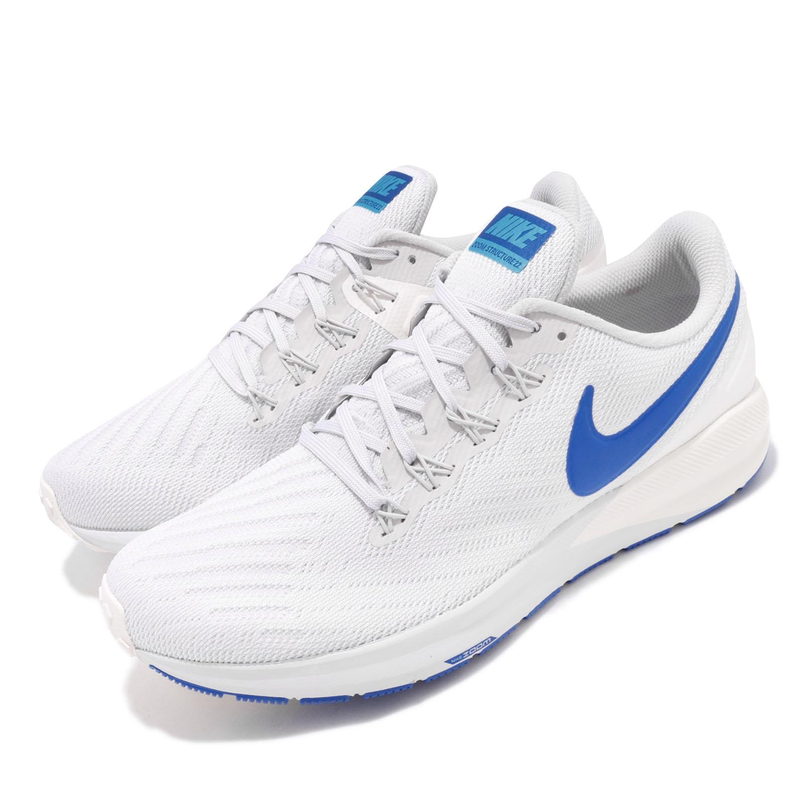 Details about Nike Air Zoom Structure 22 Grey Game Royal Blue Sail Men Running Shoe AA1636 007