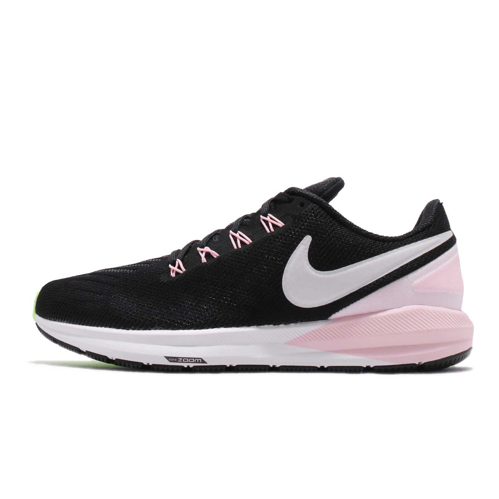 202f898c41a Nike Wmns Air Zoom Structure 22 Black Pink Foam Women Running Shoes  AA1640-004