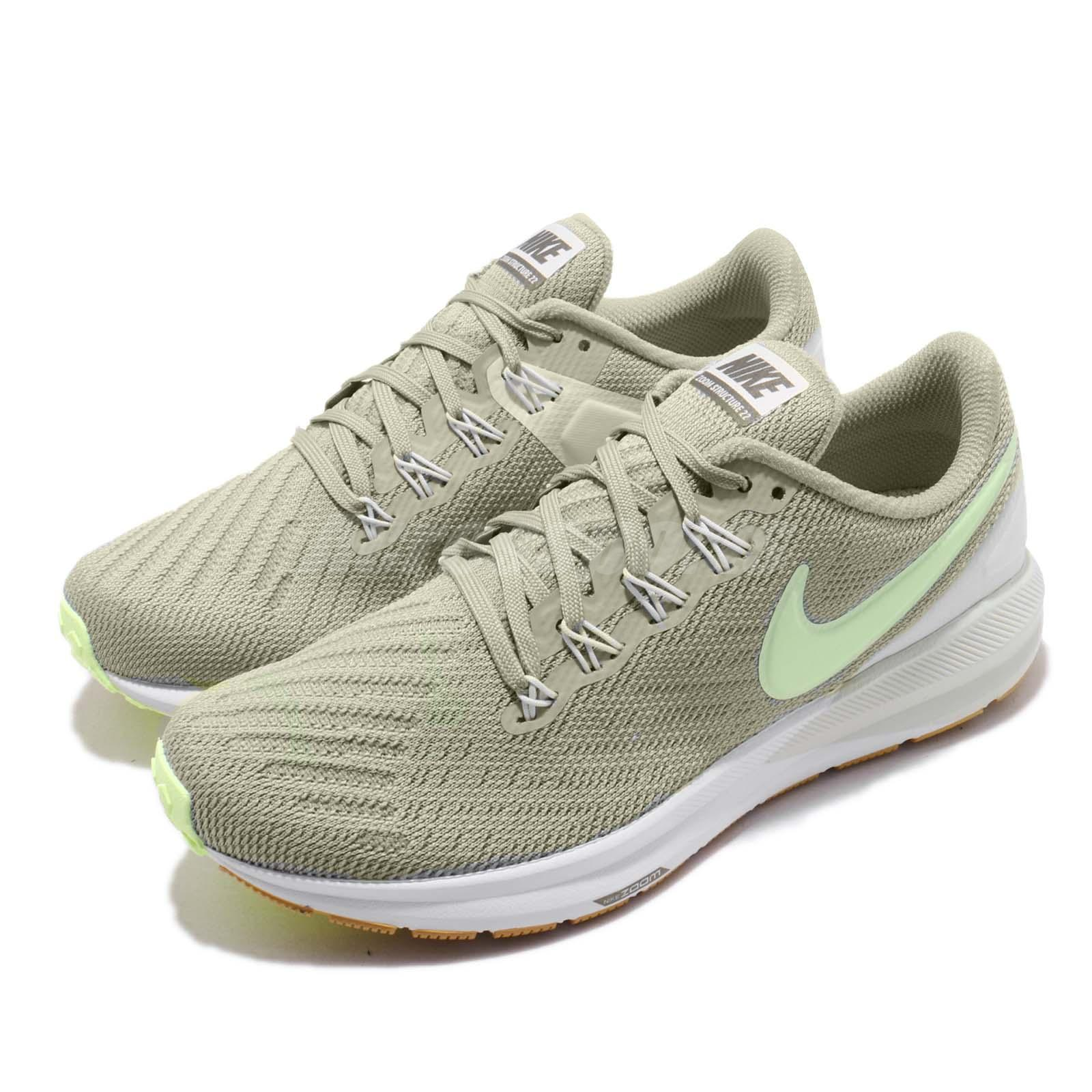 price reduced excellent quality discount Nike Wmns Air Zoom Structure 22 Green White Womens Running Shoes ...