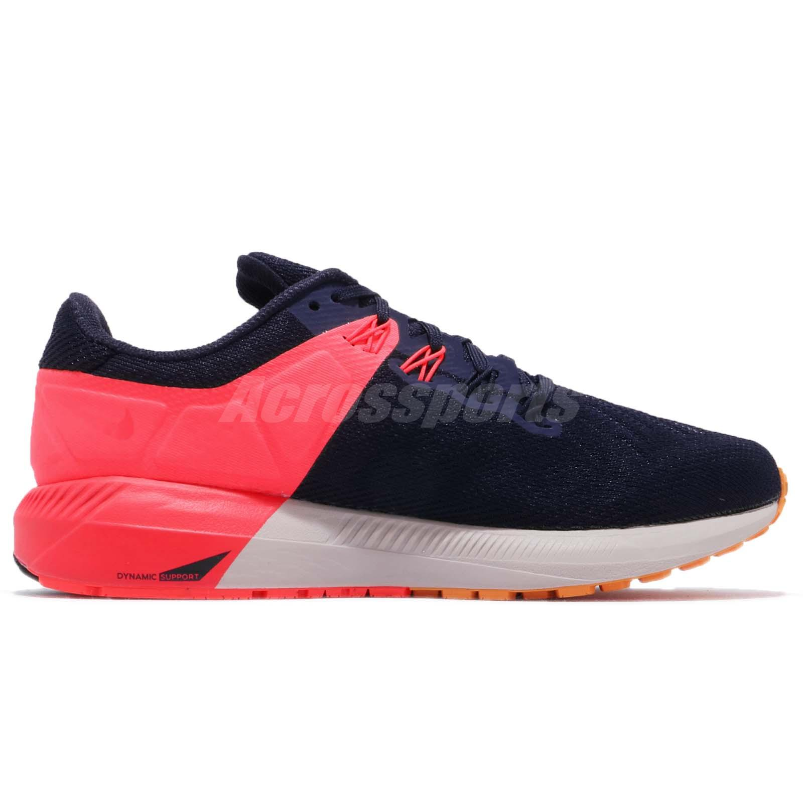 864fdb716036 Nike Wmns Air Zoom Structure 22 Blackened Blue Orange Women Shoes ...