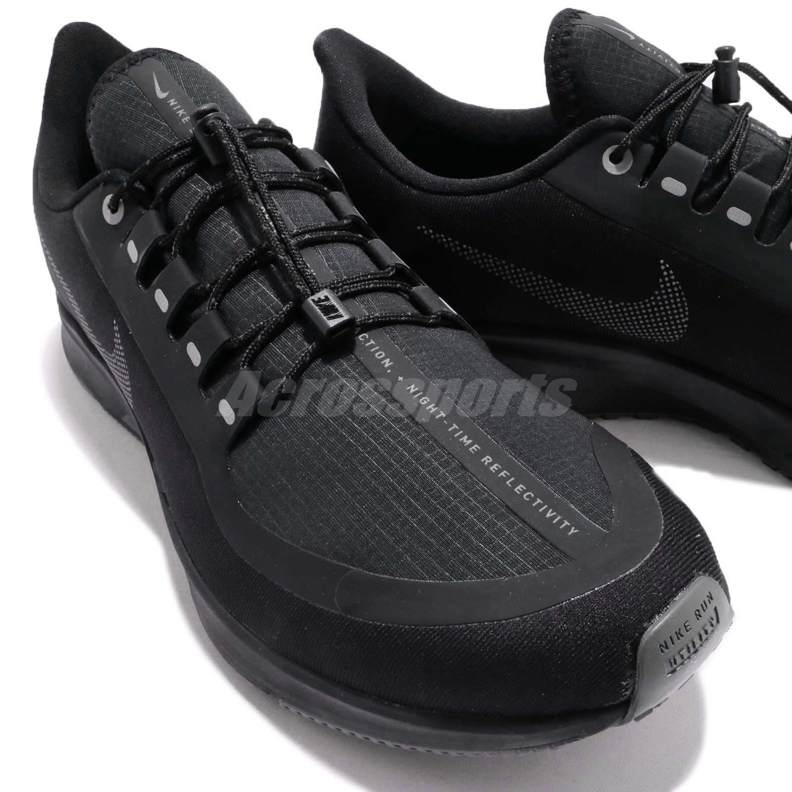 fc341b64a74 Nike Air Zoom Pegasus 35 Shield Black Grey Men Running Shoes ...