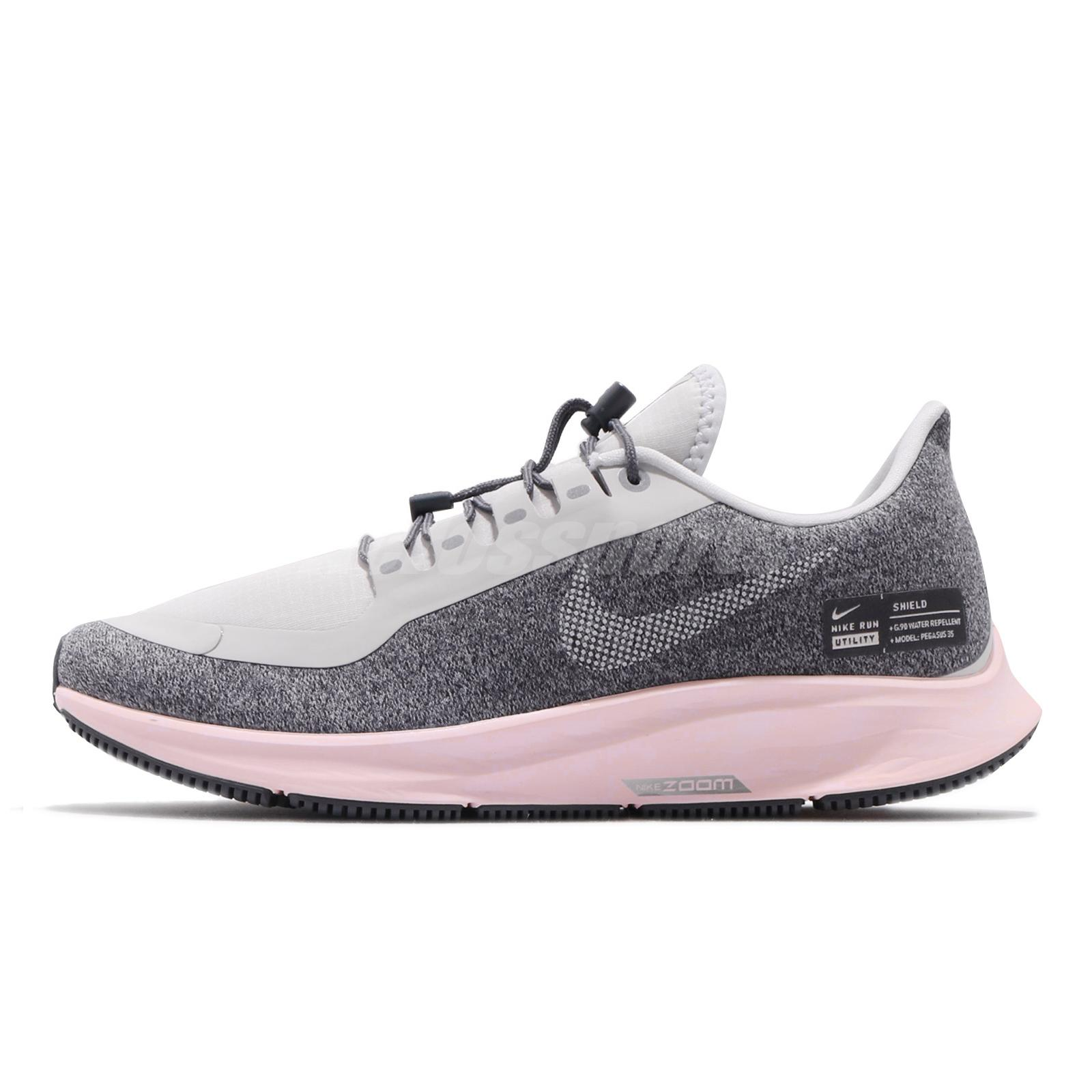 pretty nice 8dcdd 0d968 Details about Nike Wmns Air Zoom Pegasus 35 RN SHLD Grey Pink Women Running  Shoes AA1644-004