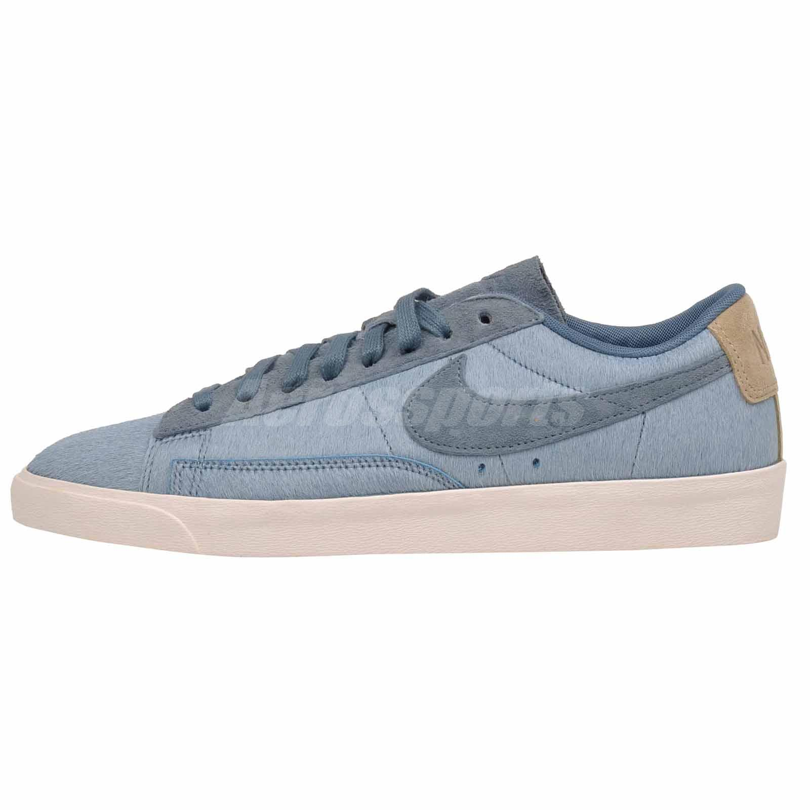 check out 0d28a 8c0dd Details about Nike W Blazer Low LX Casual Womens Shoes Blue AA2017-001