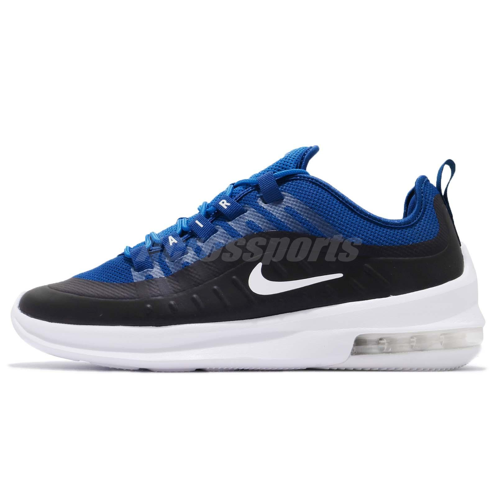 207dd4c3271a1 Nike Air Max Axis Black Blue White Men Running Casual Shoes Sneakers AA2146 -400
