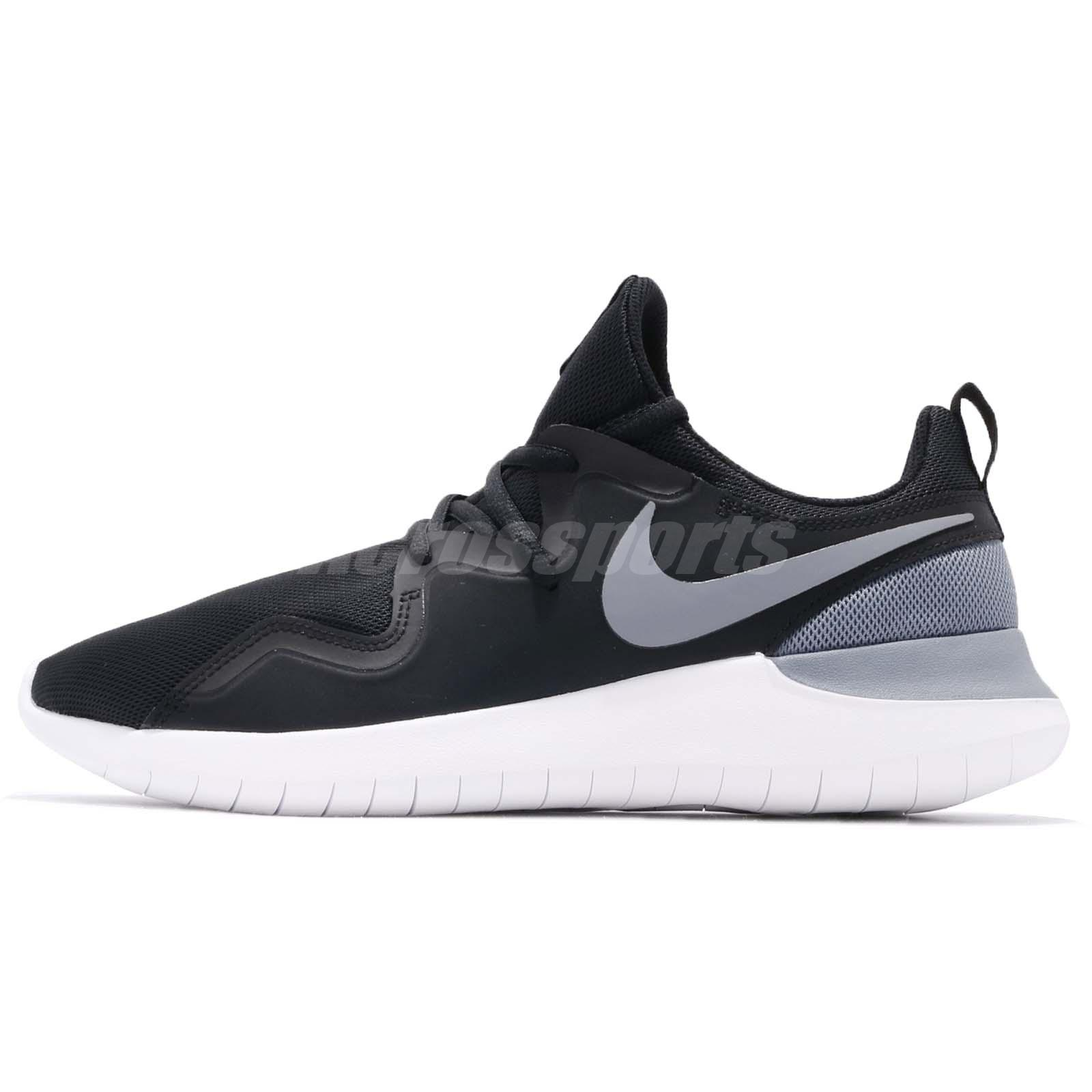 Nike Tessen Black Grey White Men Running Shoes Sneakers Trainers AA2160-001 d980783f5