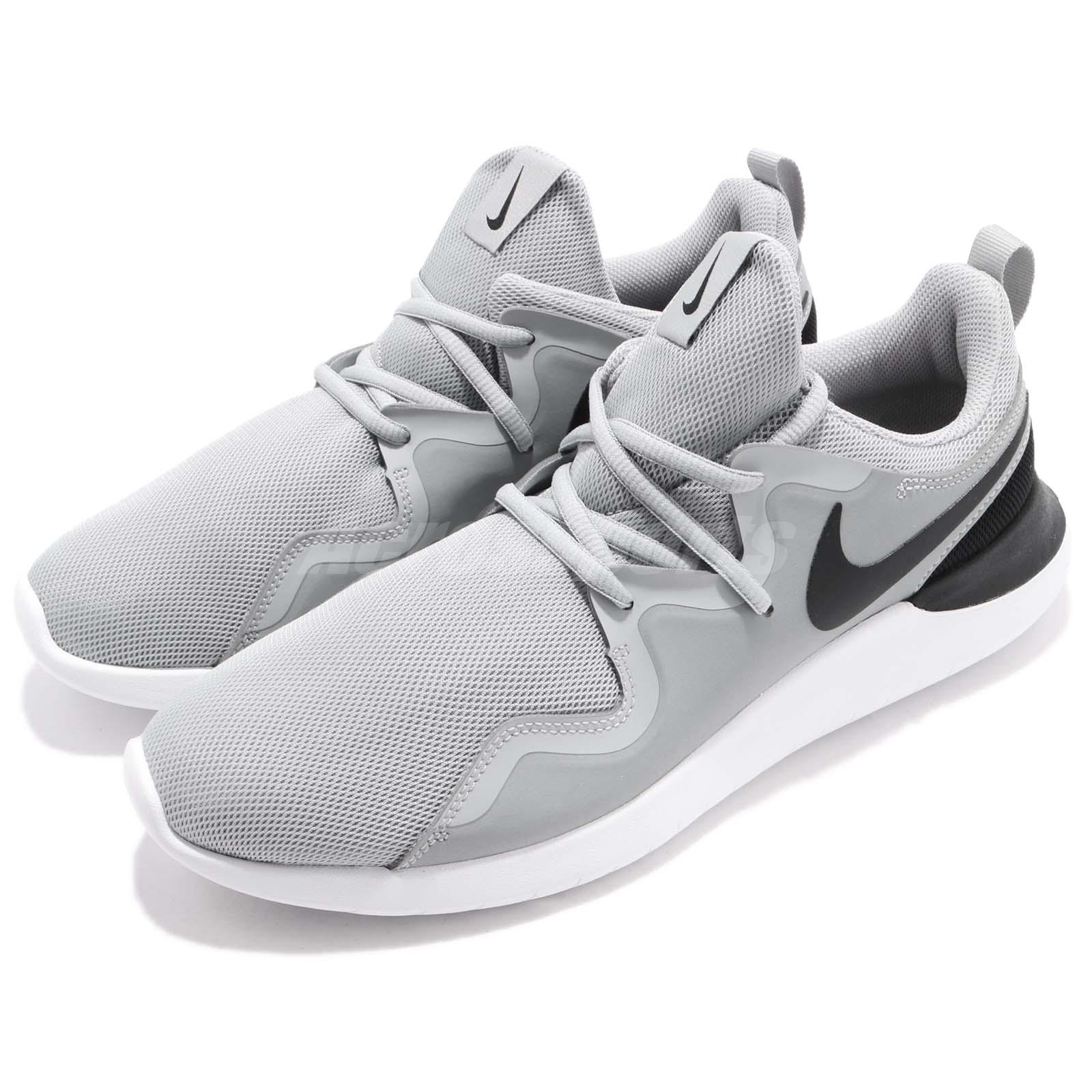 designer fashion aa43f b3ff7 Details about Nike Tessen Wolf Grey Black White Men Athletic Shoes Sneakers  Trainer AA2160-002