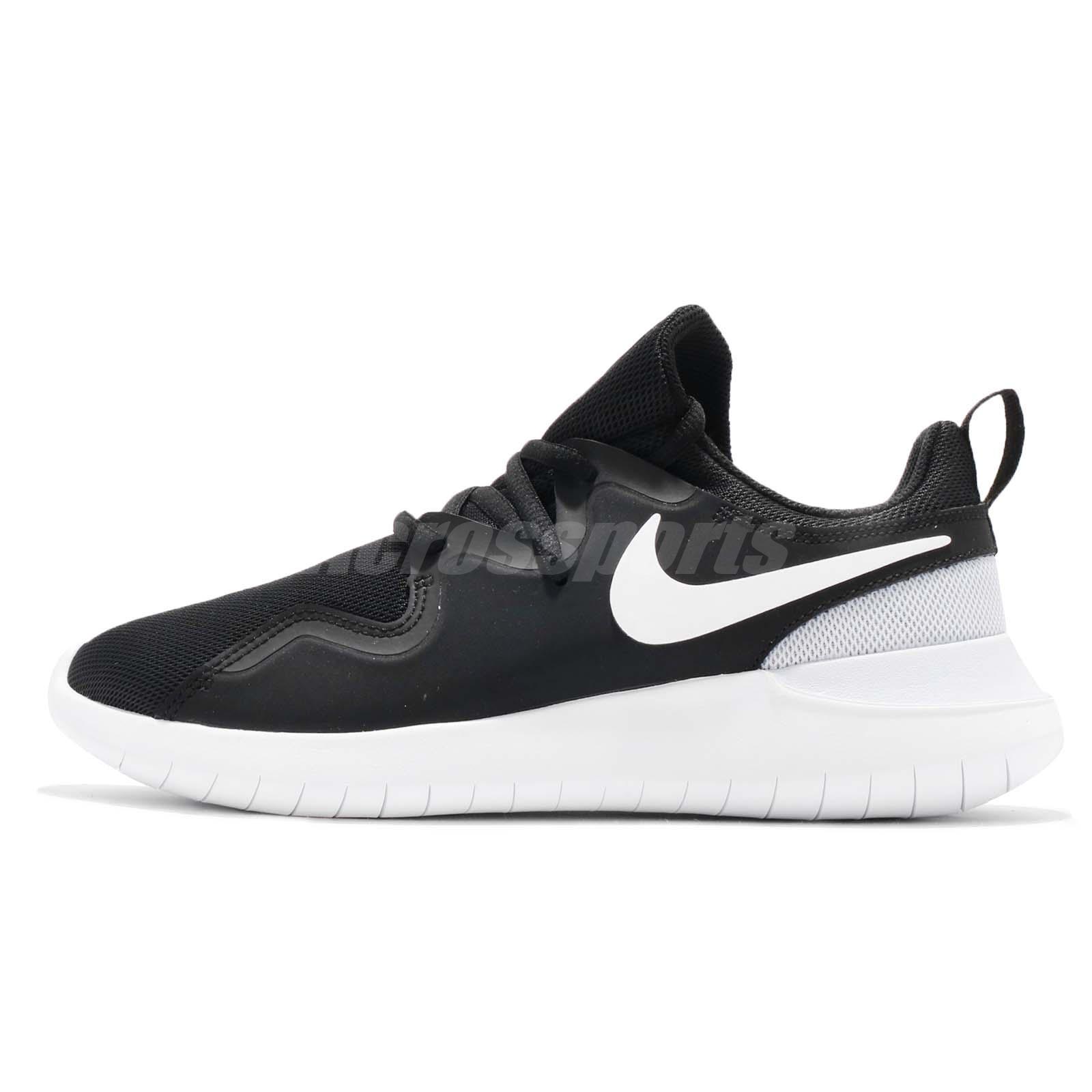 low priced e9fab cdecd Wmns Nike Tessen Black White Pure Platinum Women Running Shoe Sneaker  AA2172-001