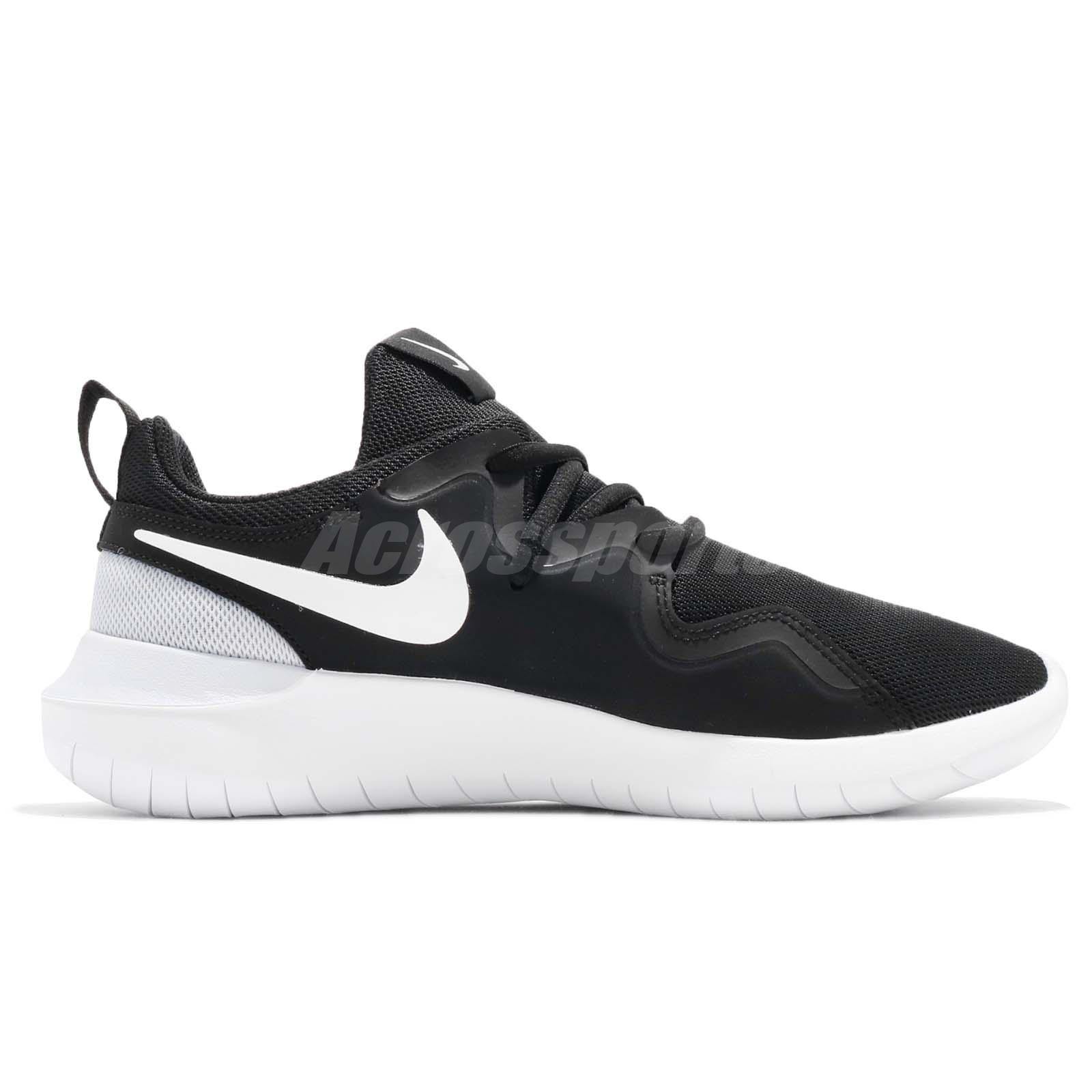 Wmns Nike Tessen Black White Pure Platinum Women Running Shoe ... 5b04955b1
