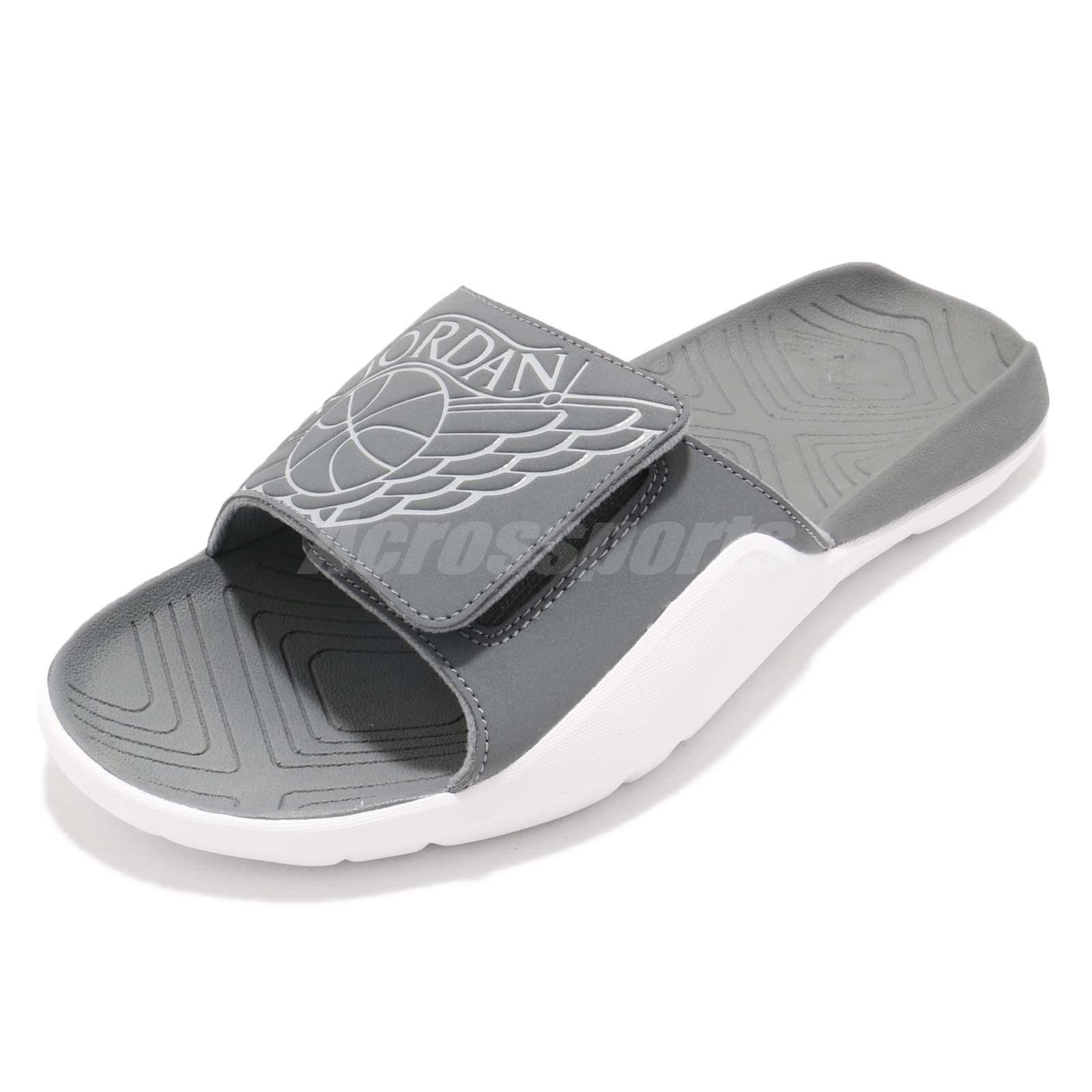 b6e22ca54cacb Nike Jordan Hydro 7 VII Grey White Men Sports Sandal Slides Slippers  AA2517-002