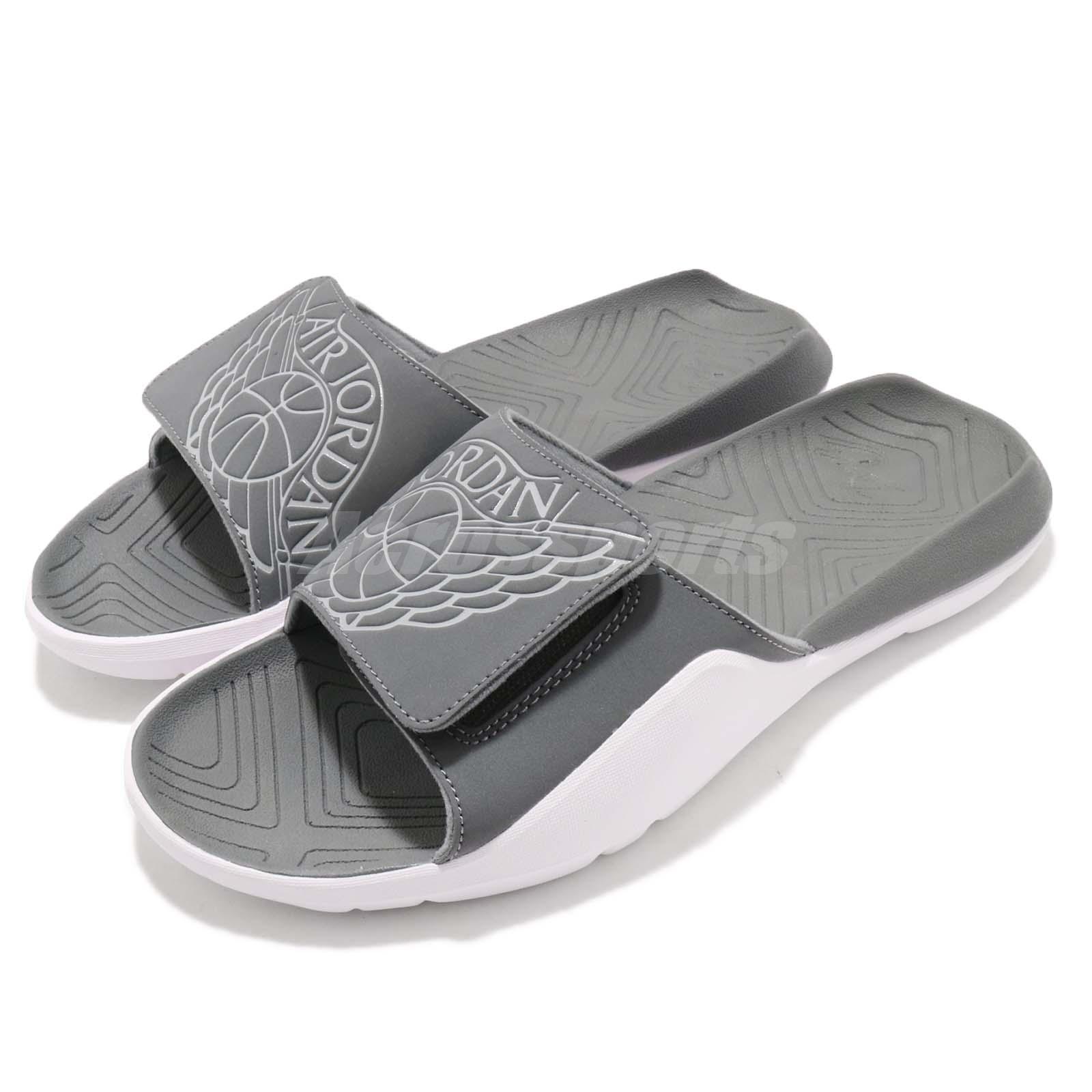 2b5e2f94374c57 Details about Nike Jordan Hydro 7 VII Grey White Men Sports Sandal Slides  Slippers AA2517-002