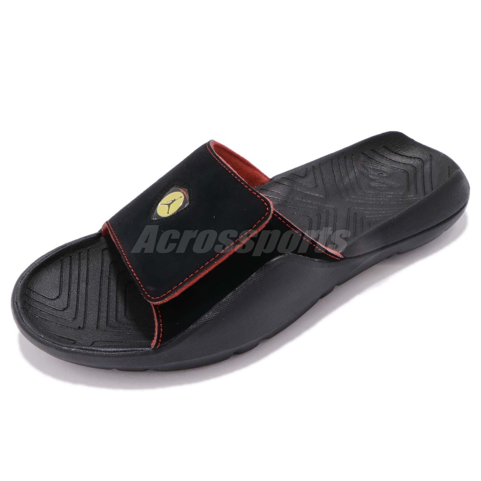 4ffac0755a0e Nike Jordan Hydro 7 VII 14 XIV Black Red Men Sports Sandal Slides AA2517-003