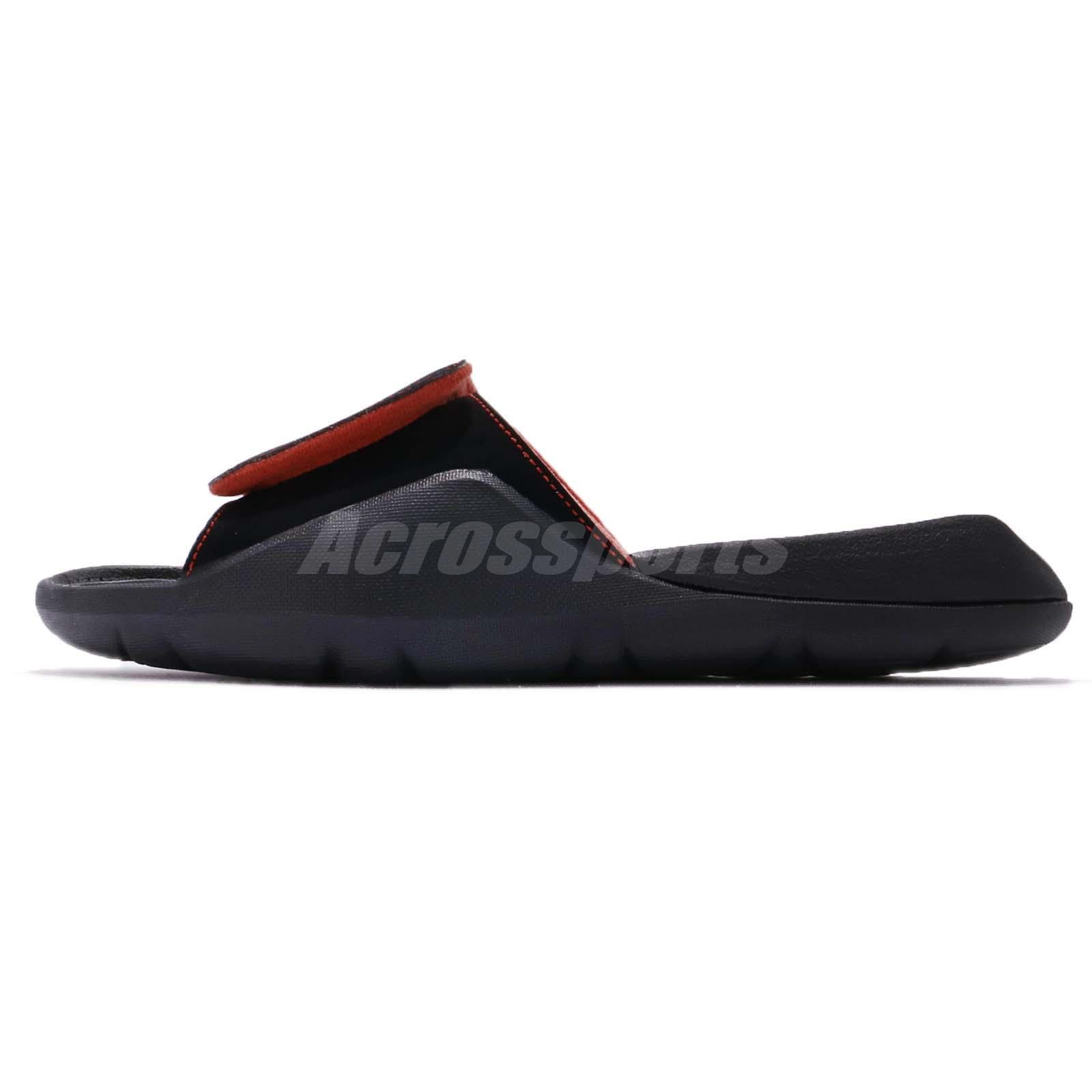 9e9f20ad9215c2 Nike Jordan Hydro 7 VII 14 XIV Black Red Men Sports Sandal Slides ...