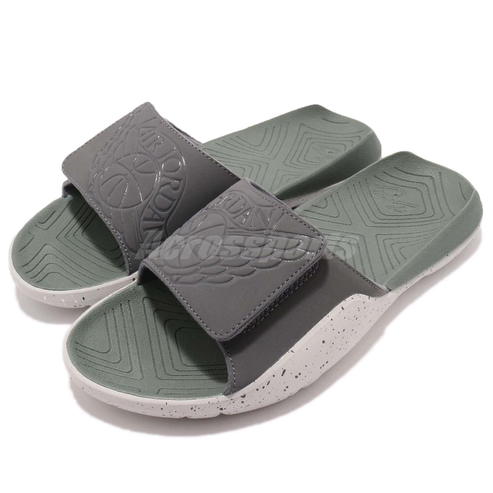 e6f3dc574 Details about Nike Jordan Hydro 7 VII Grey Green Men Sports Sandal Slides  Slippers AA2517-035