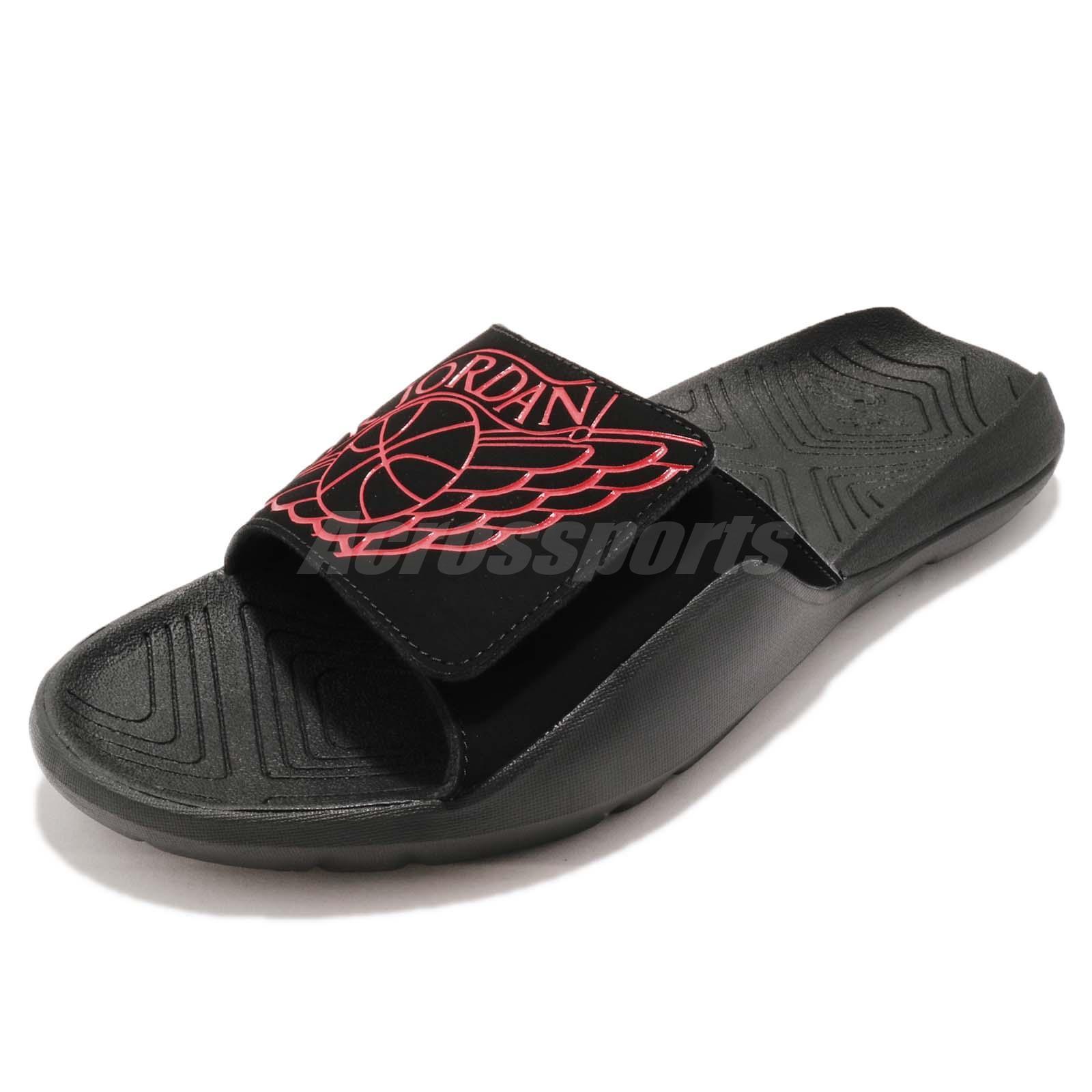 Nike Jordan Hydro 7 VII Black Red Men Sports Sandals Slides Slippers  AA2517-062 e7354d577b