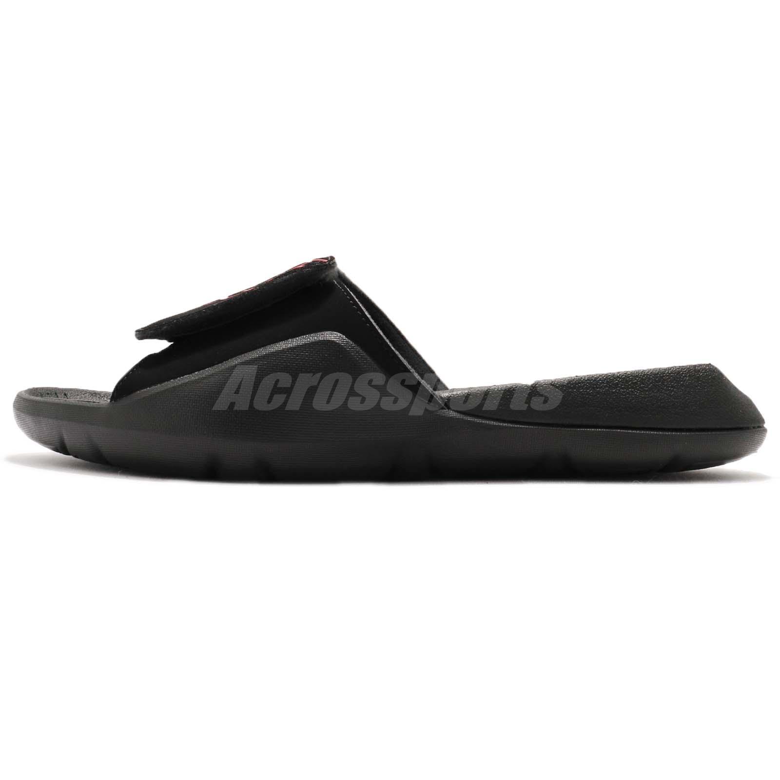 ceea946b2810 Nike Jordan Hydro 7 VII Black Red Men Sports Sandals Slides Slippers ...