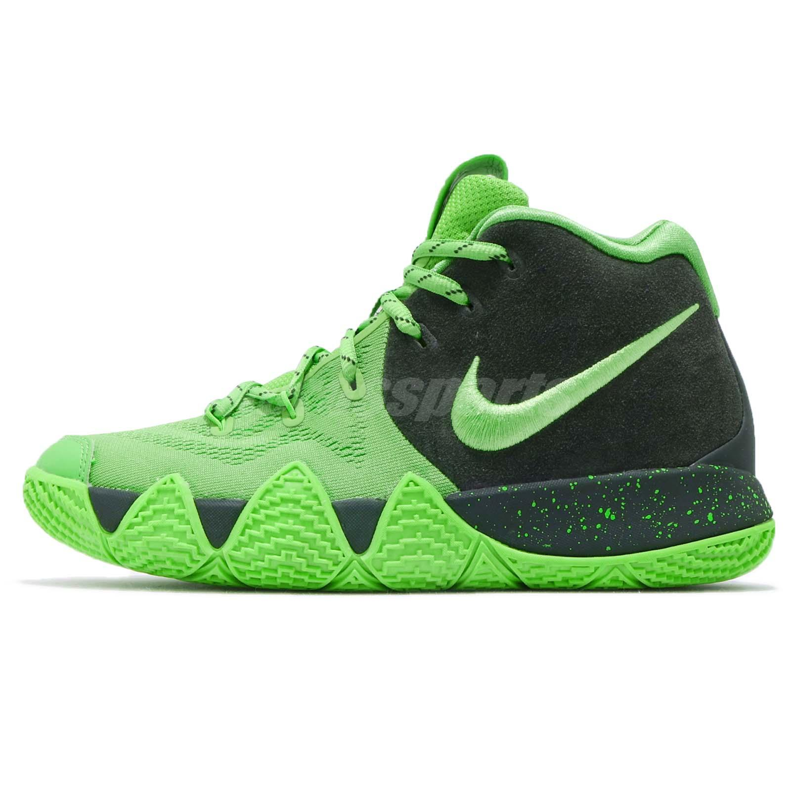 official photos b6f97 2df59 Details about Nike Kyrie 4 GS IV Irving Spinack Green Strike Kid Youth  Women Shoes AA2897-333