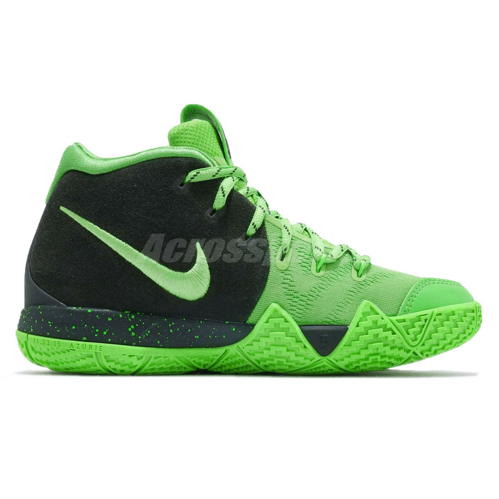 53dcf592d93a Nike Kyrie 4 GS IV Irving Spinack Green Strike Kid Youth Women Shoes ...