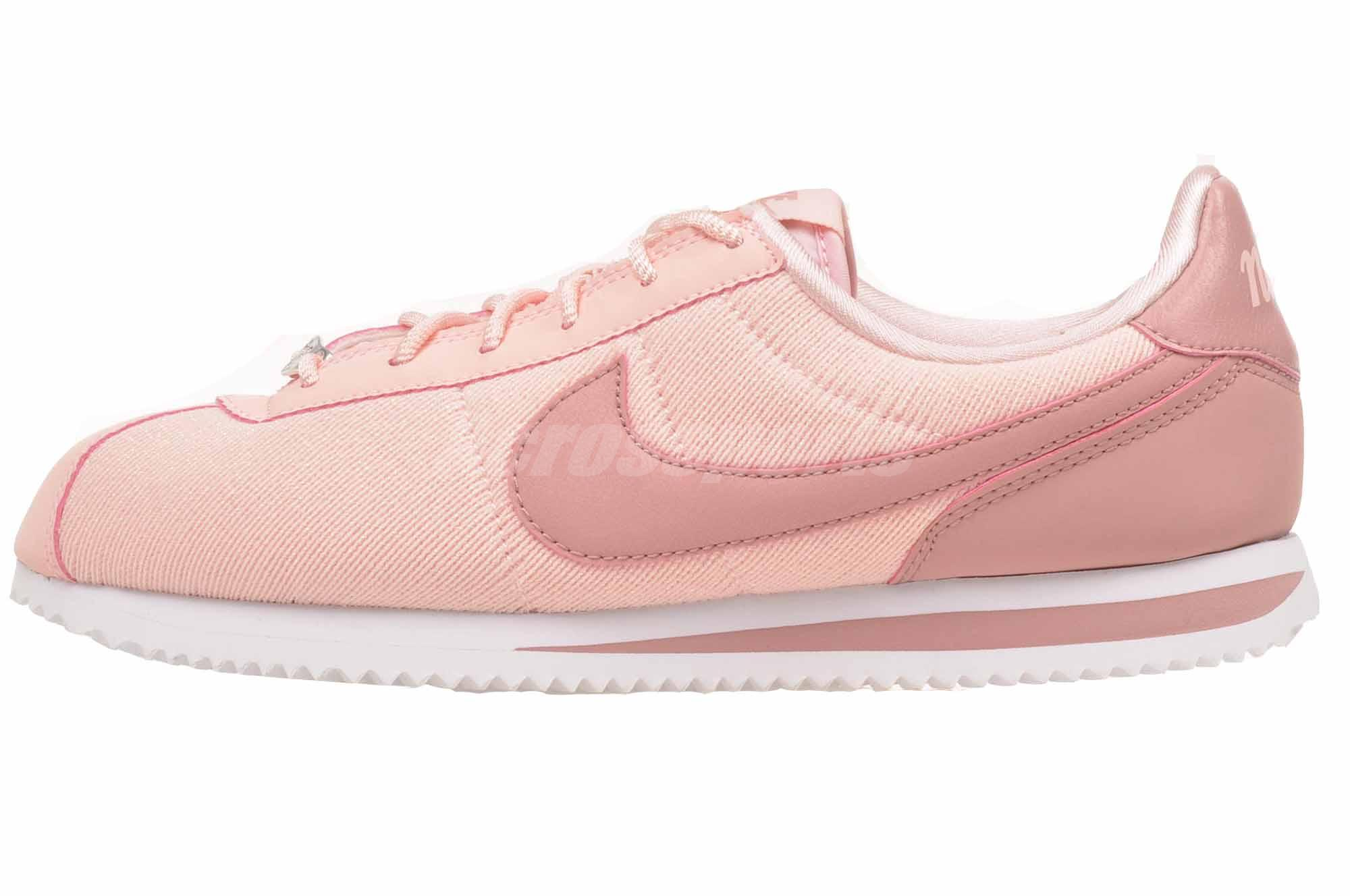 best service 0b296 2957f Details about Nike Cortez Basic TXT SE GS Casual Kids Youth Womens Shoes  Pink AA3498-600