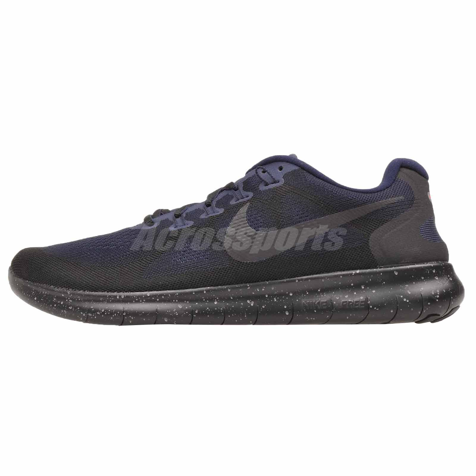 62dd7079c96a Details about Nike Free RN 2017 Shield Running Mens Shoes NWOB Black  AA3760-001