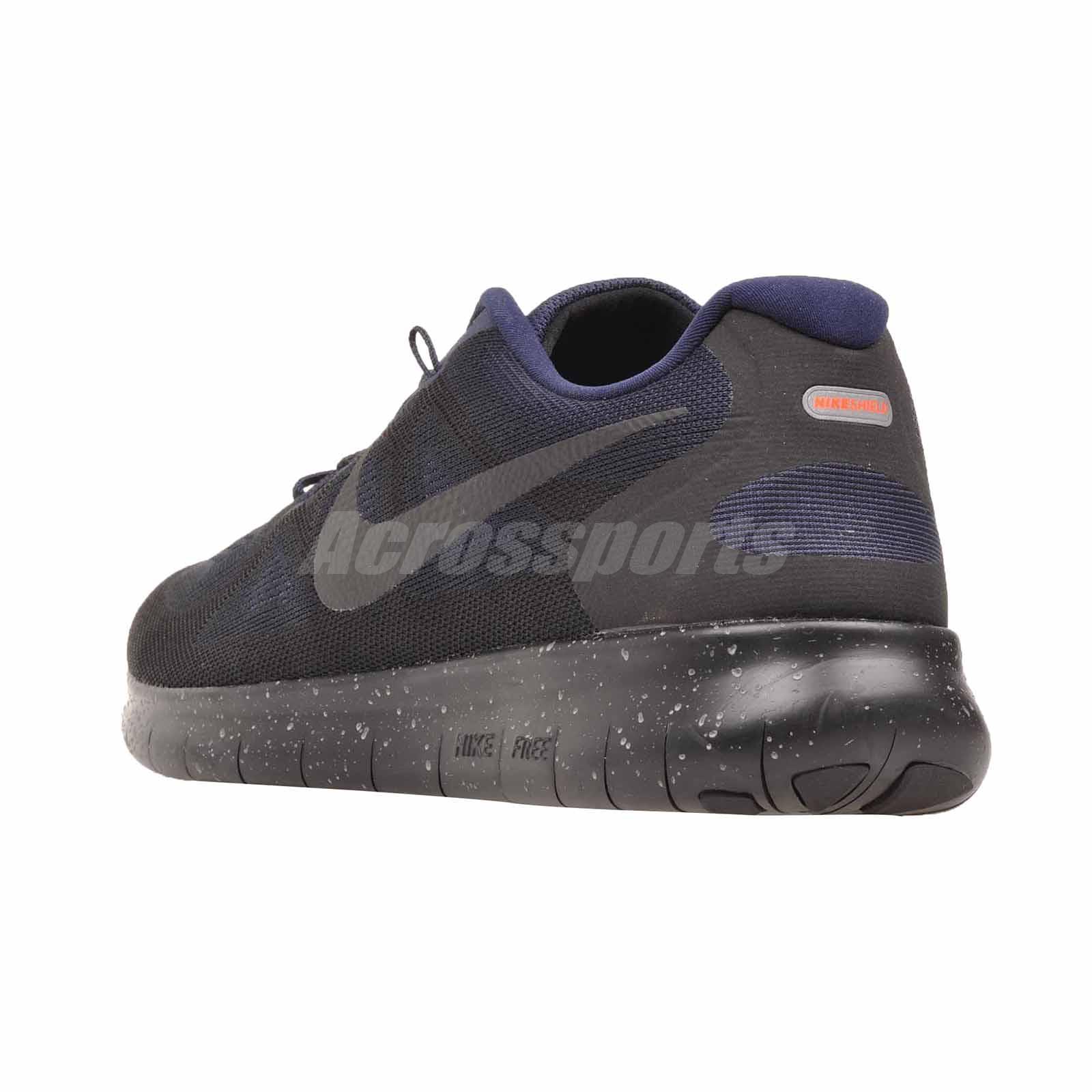 22dde1cfb9d22c Nike Free RN 2017 Shield Running Mens Shoes NWOB Black AA3760-001