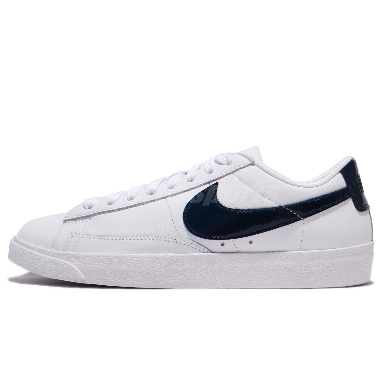 Nike W Blazer Low LE [AA3961-107] Women Casual Shoes White/Obsidian-White