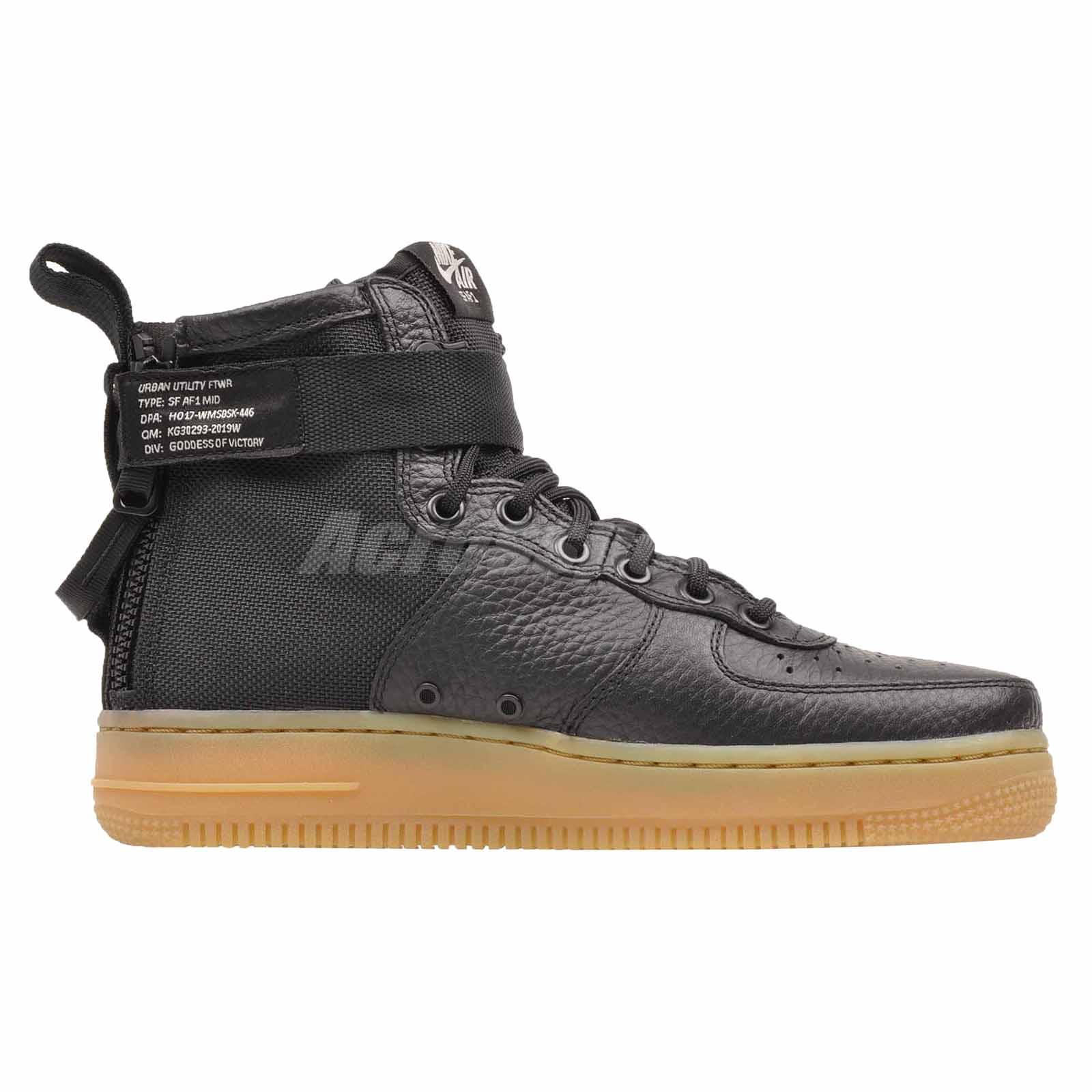 bb35fe3e Nike Wmns SF AF1 Mid Casual Womens Air Force 1 Shoes Black AA3966 ...