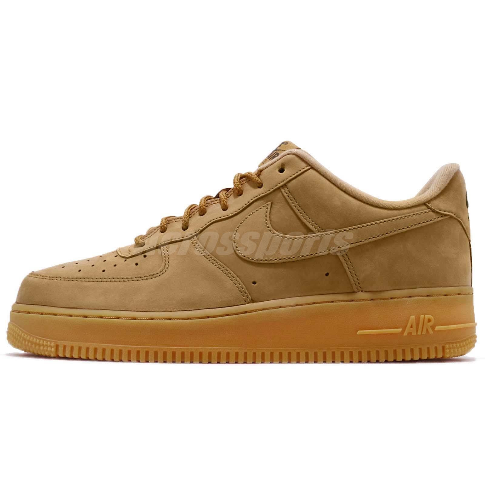 release date 104d1 a9a75 Nike Air Force 1 07 WB Flax Wheat Brown Mens Shoes Sneakers AF1 AA4061-200