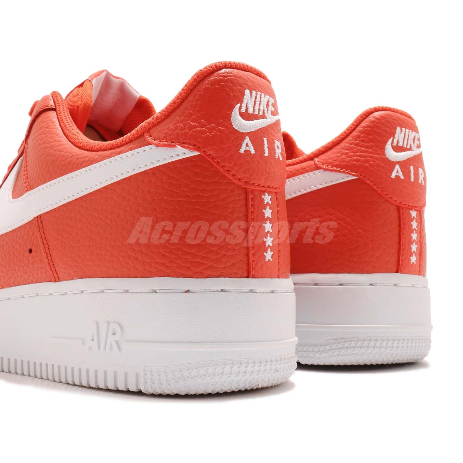 best sneakers 65525 ad023 Nike Air Force 1 07 AF1 Team Orange White Men Casual Shoes Sneakers ...