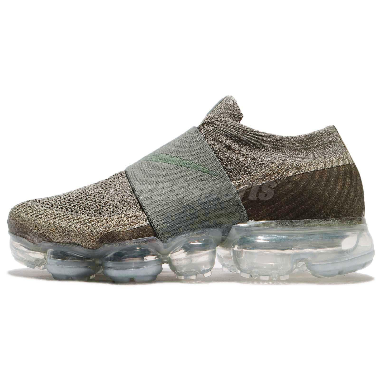Nike Wmns Air Vapormax FK Moc Flyknit Dark Stucco Green Women Running AA4155013