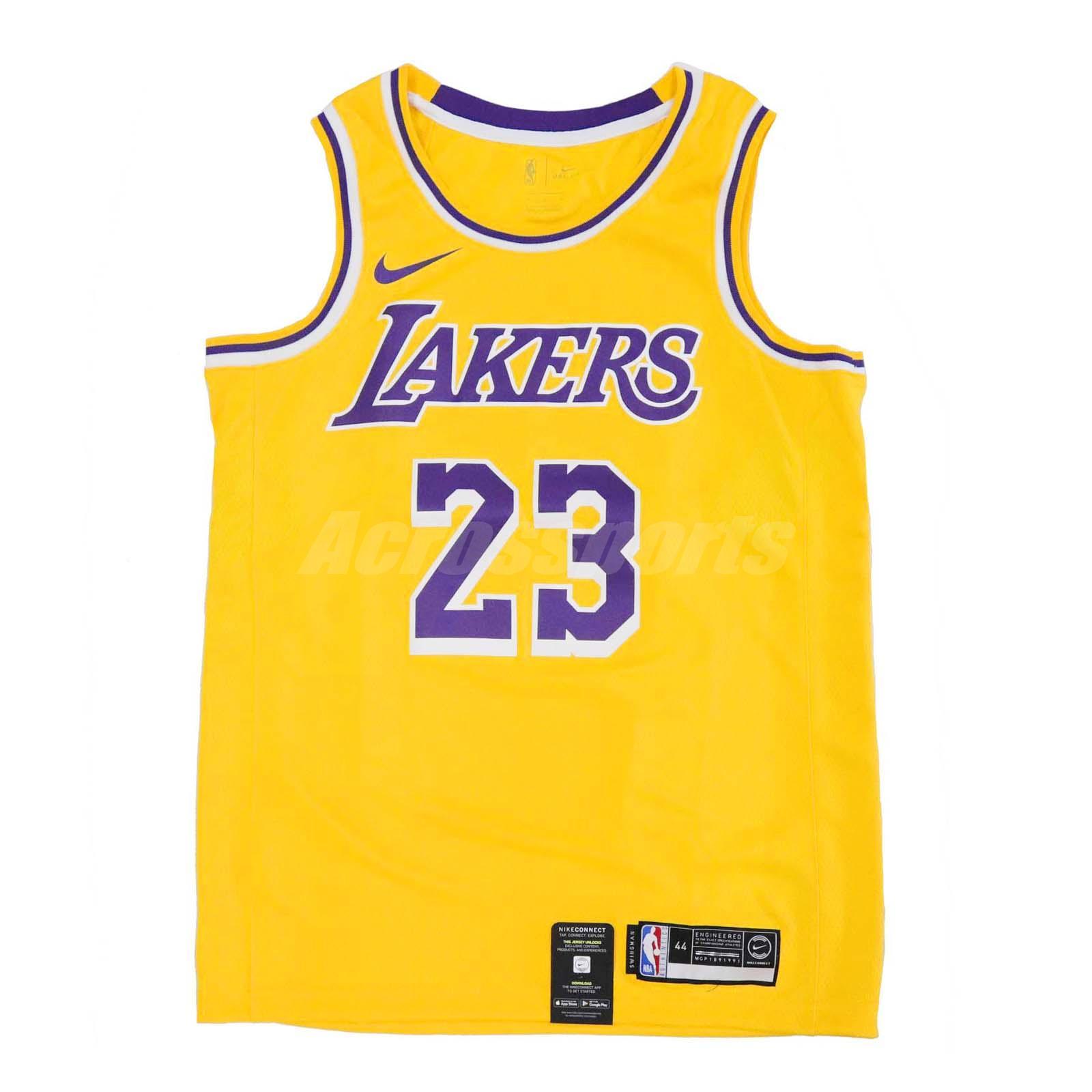 46fd9cb2ab8 Nike Men Lebron James Icon Edition Swingman Jersey LA Lakers Gold ...