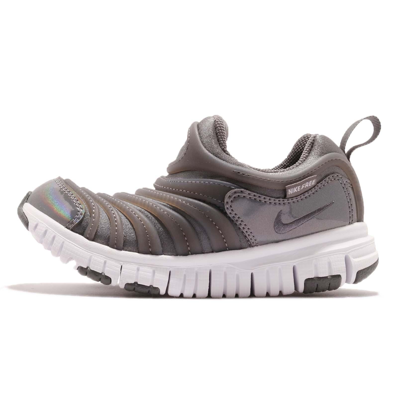 92ebdbc065f3b Nike Dynamo Free SE PS Grey White Preschool Boy Girl Slip On Shoes  AA7216-001