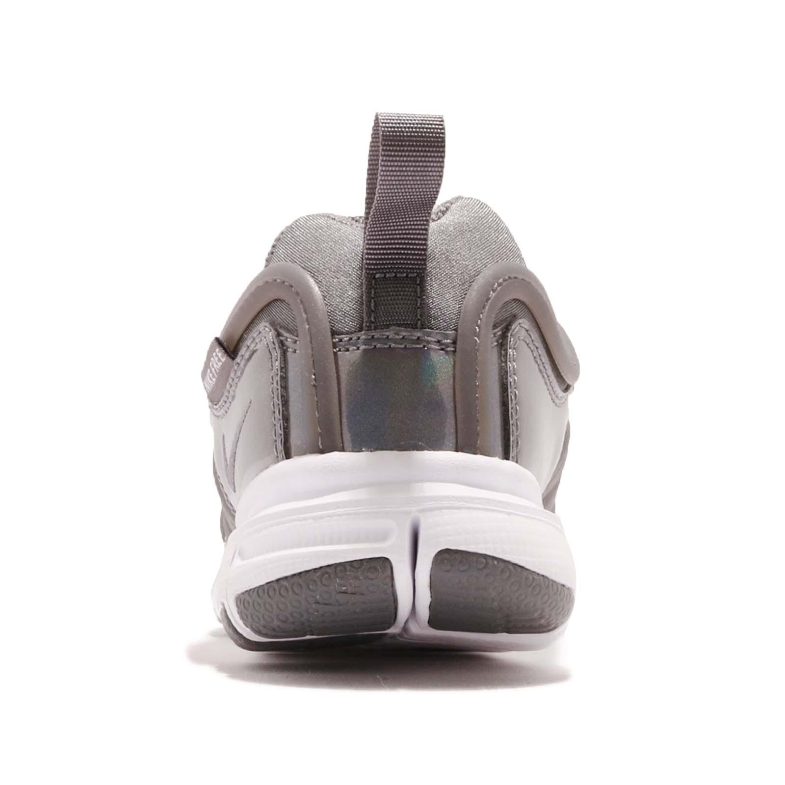 44b724d882bdc Nike Dynamo Free SE PS Grey White Preschool Boy Girl Slip On Shoes ...