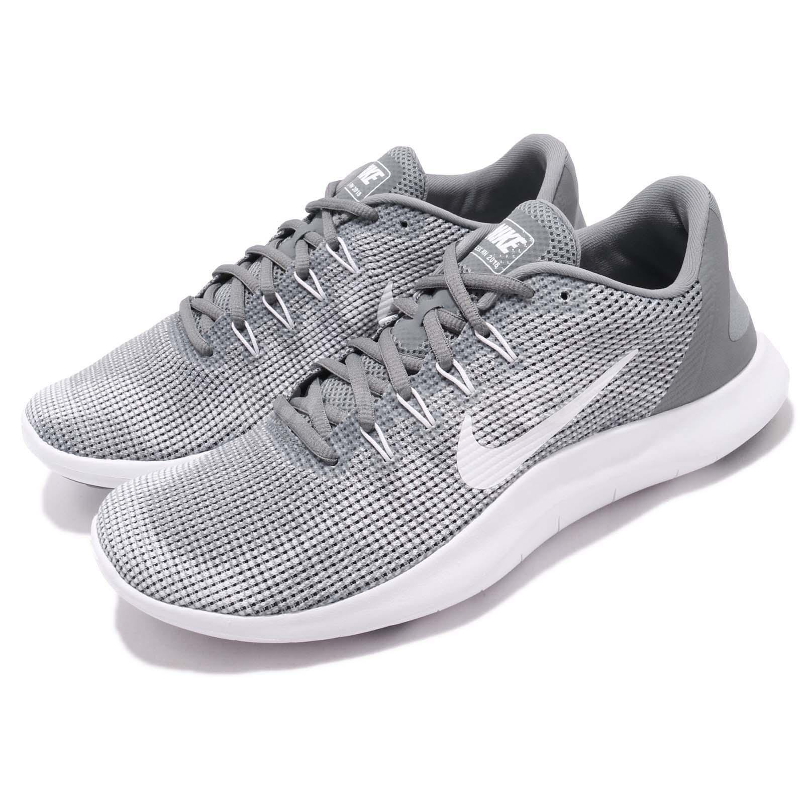 Nike Flex 2018 RN Grey Run White Men Running Shoes Sneakers AA7397-010