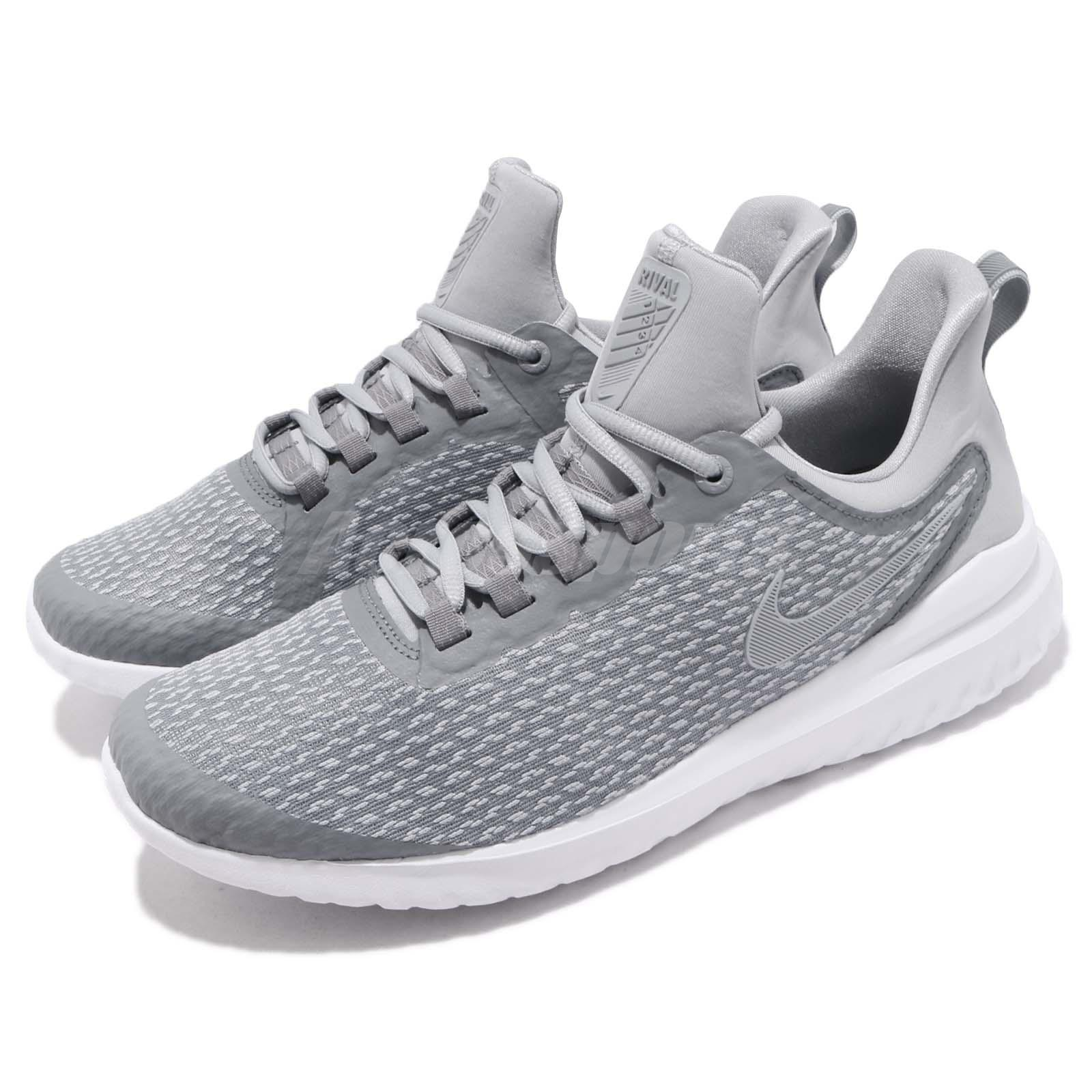official photos d486b b16c2 Details about Nike Renew Rival Stealth Grey White Men Running Casual Shoes  Sneakers AA7400-006