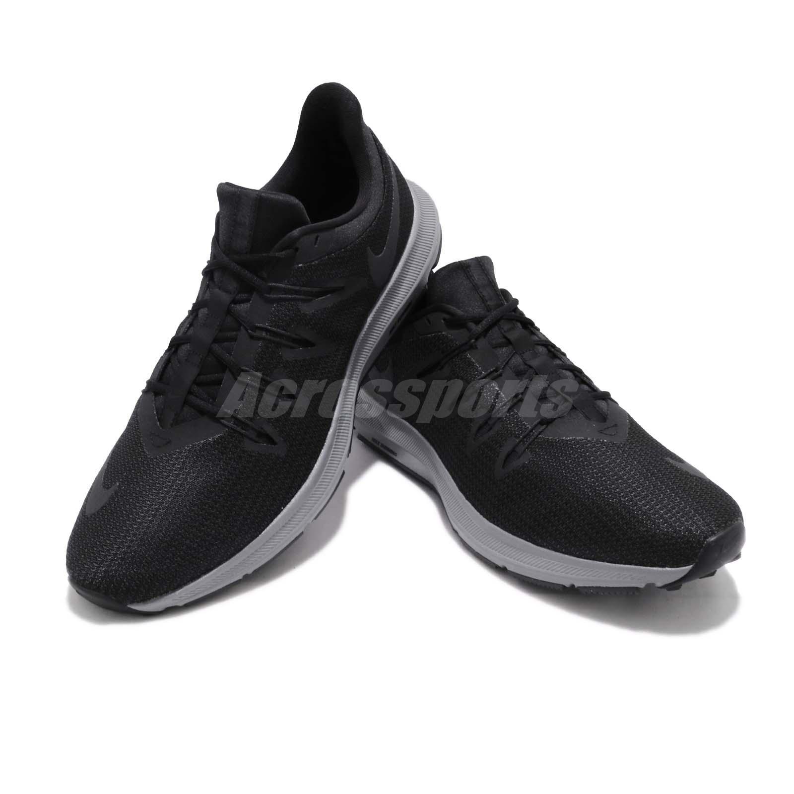 c47c6c265ea19 Nike Quest Black Anthracite Grey Men Running Training Shoes Sneakers ...