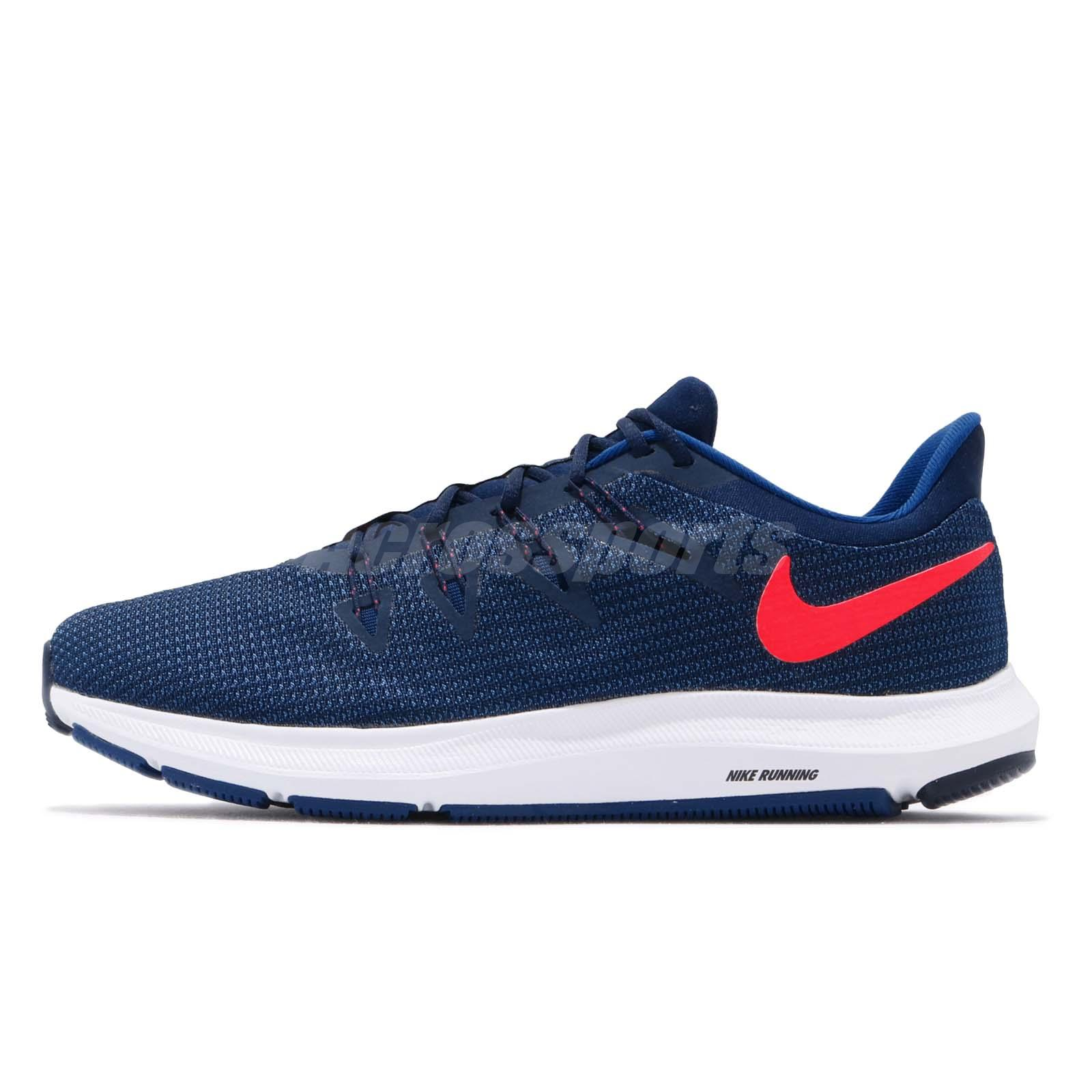 best service ad776 6d561 Nike Quest Blue Void Red Orbit White Men Running Shoes Sneakers AA7403-403