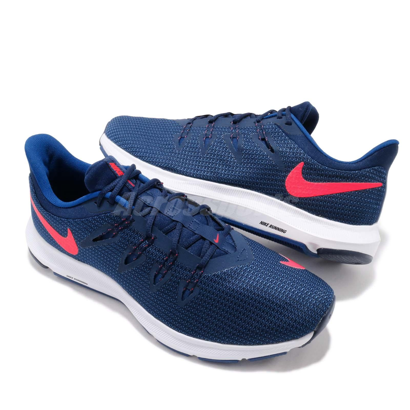online store 44138 729cb Nike Quest Blue Void Red Orbit White Men Running Shoes Sneakers ...