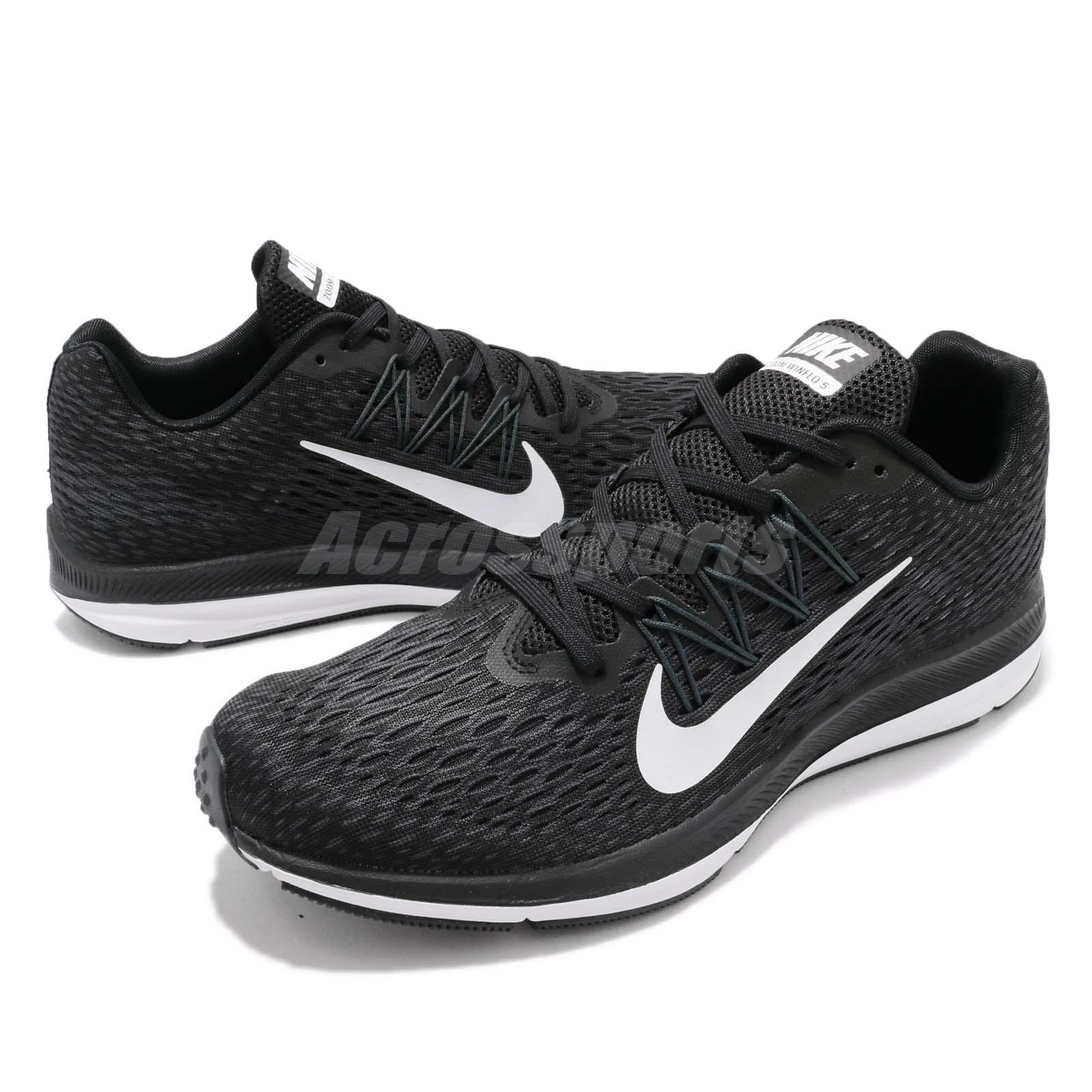 a62ff023f1819 Details about Nike Zoom Winflo 5 V Black White Men Running Shoes Sneakers  AA7406-001