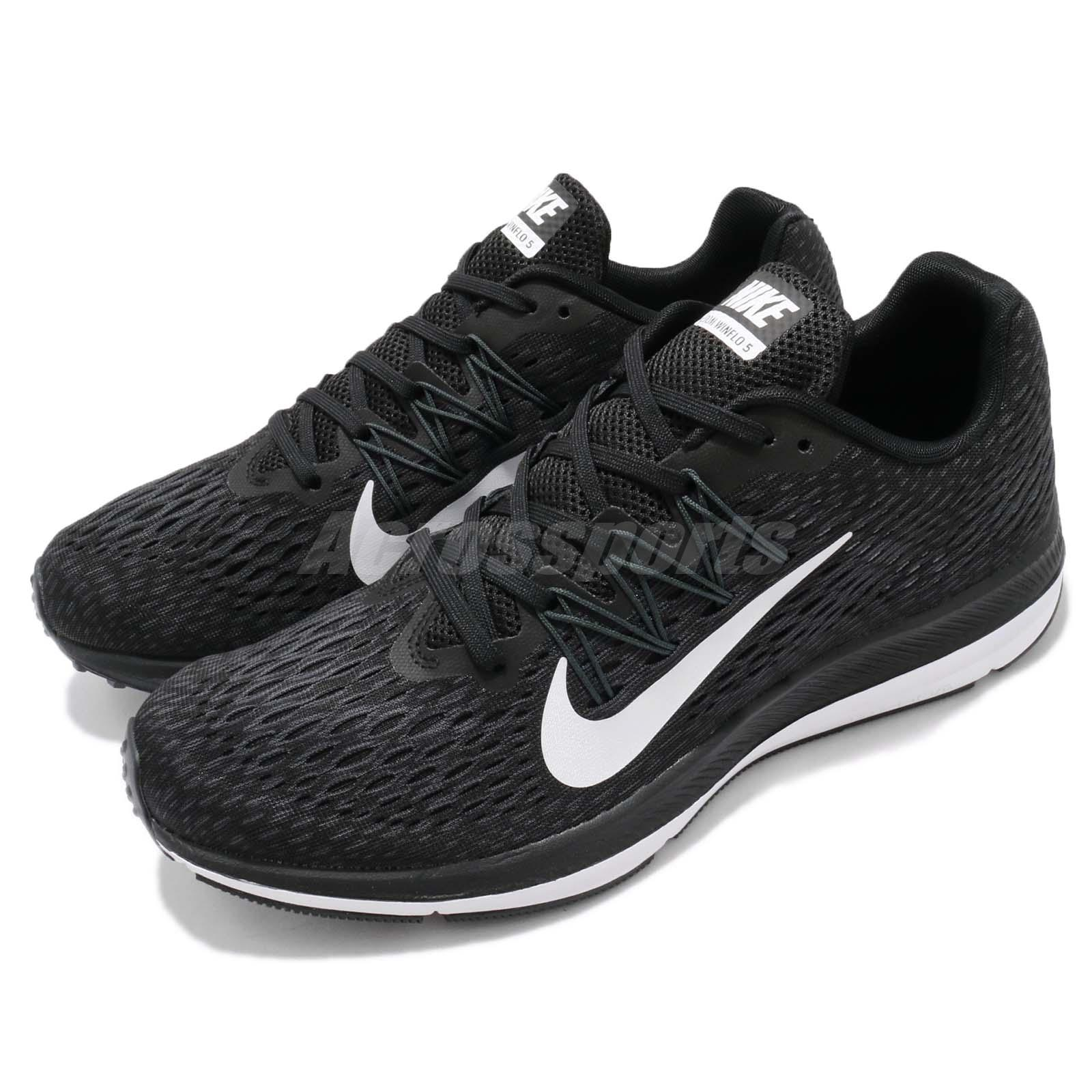 6779cc764d3 Details about Nike Zoom Winflo 5 V Black White Men Running Shoes Sneakers  AA7406-001