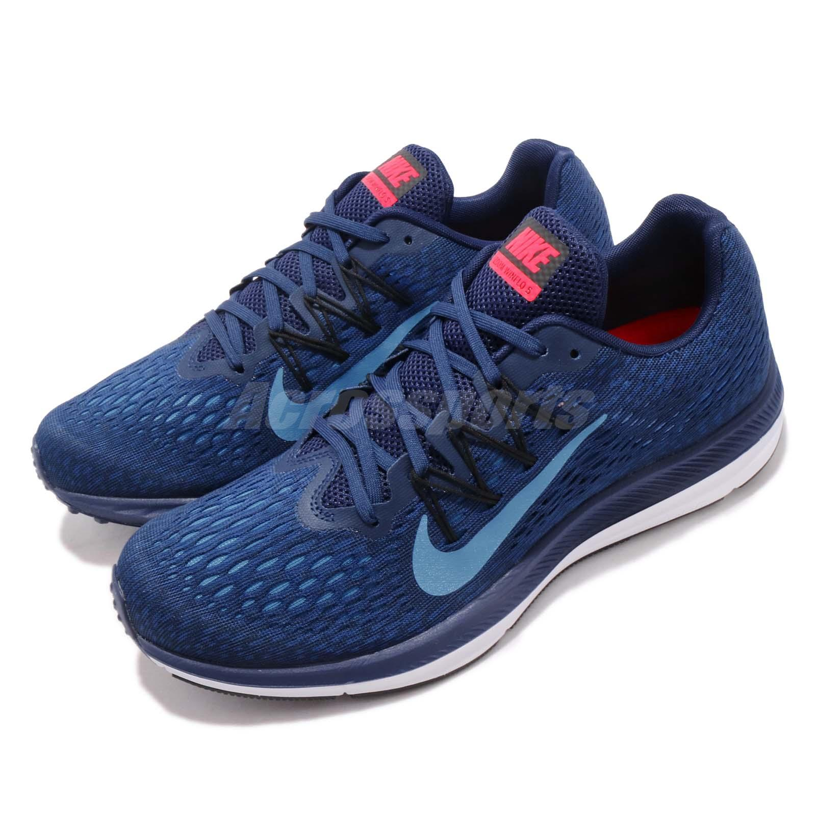 bf016ac0ecbce Details about Nike Zoom Winflo 5 V Photo Blue Void White Men Running Shoes  Sneakers AA7406-405