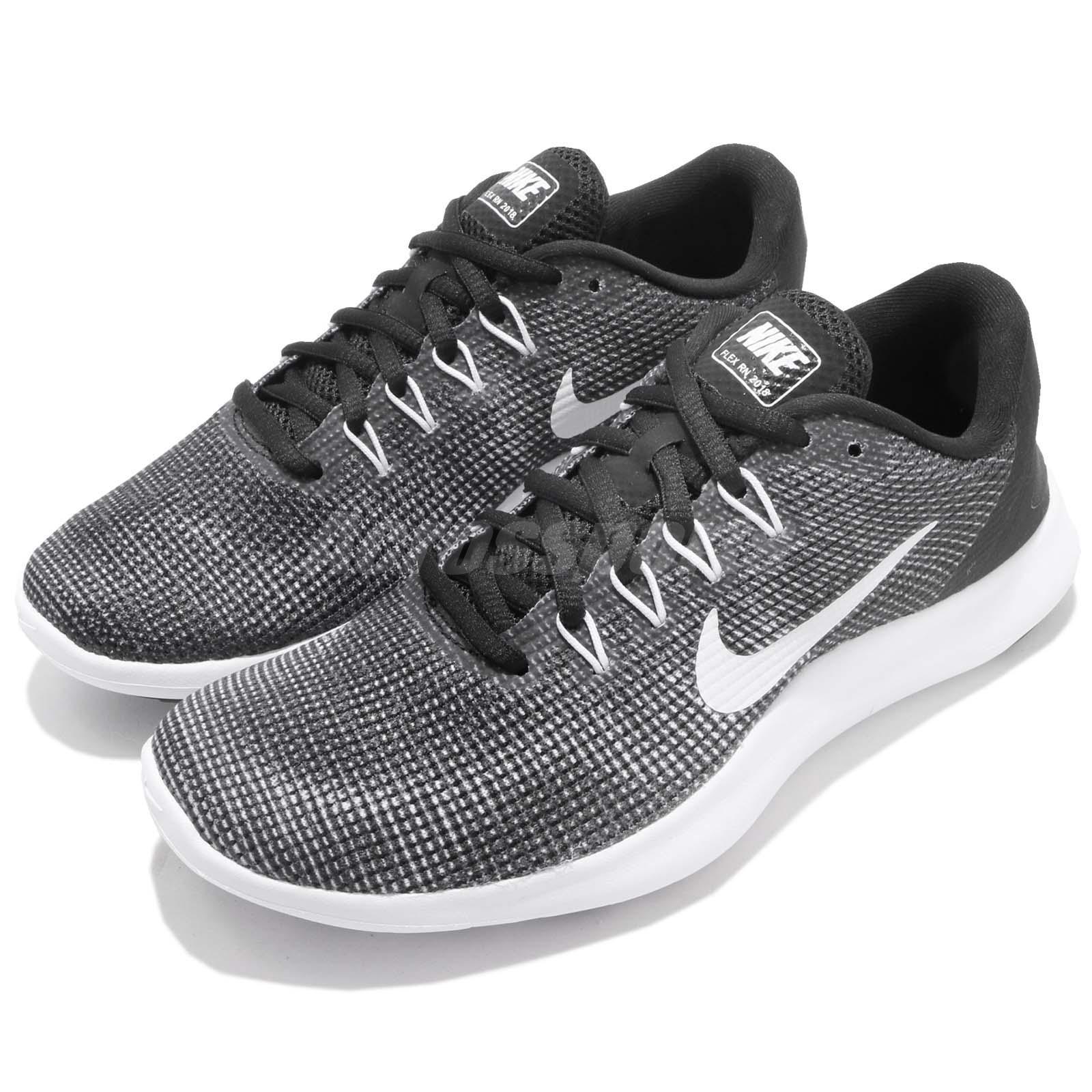 Nike Wmns Flex 2018 RN Black White Women Running Shoes Sneakers AA7408-001