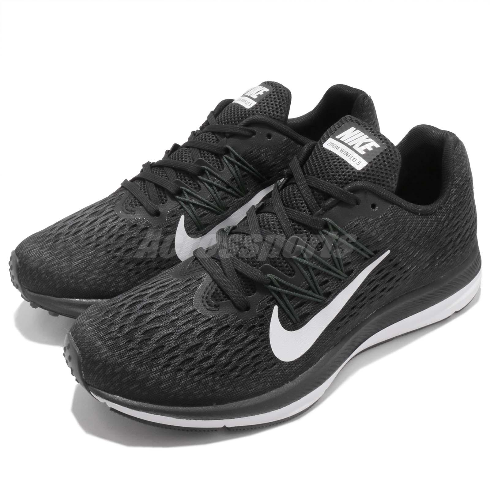 timeless design 7d886 93a5a Details about Nike Wmns Zoom Winflo 5 V Black White Women Running Shoes  Sneakers AA7414-001