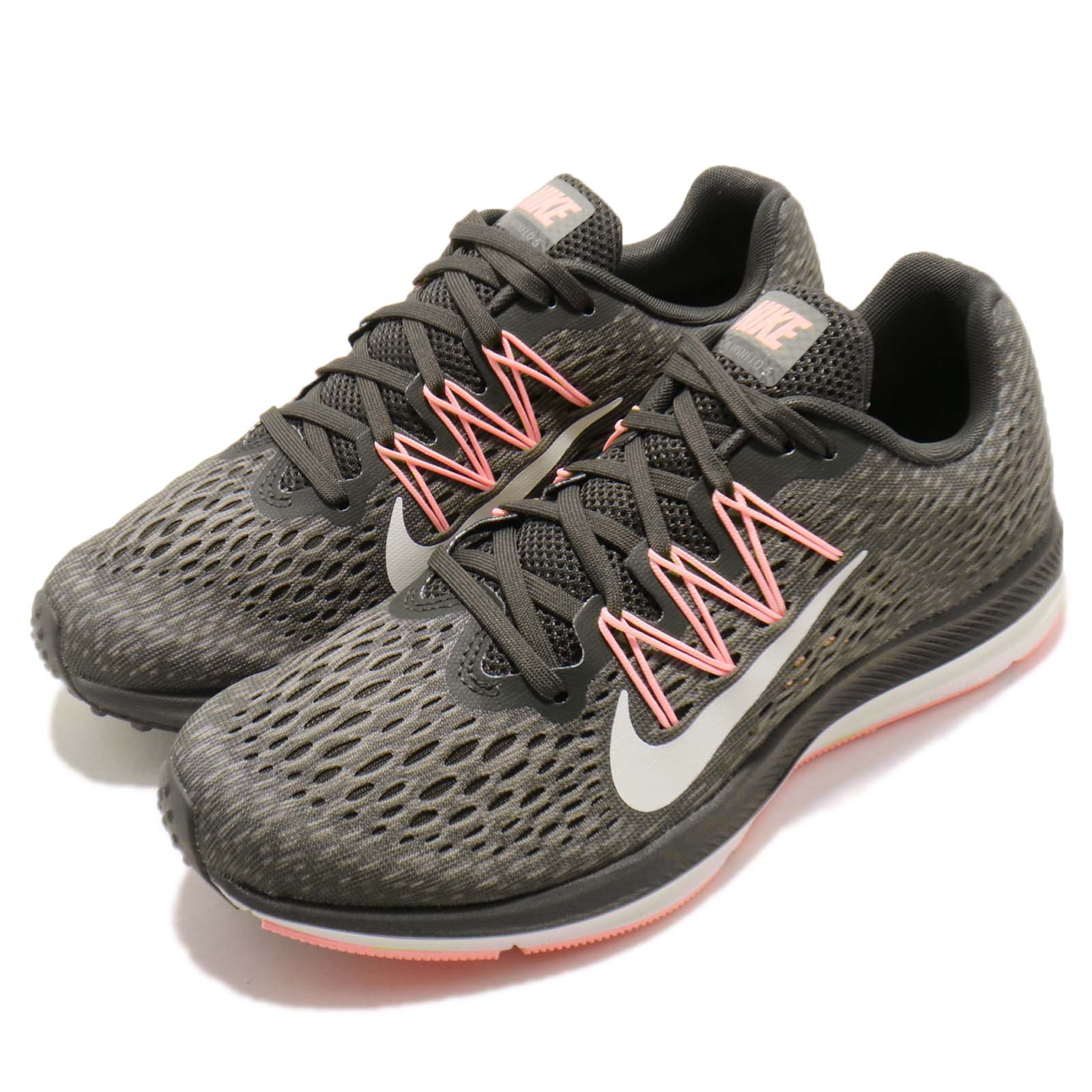 4891b68fa59 Details about Nike Wmns Zoom Winflo 5 V Grey Pink White Women Running Shoes  Sneaker AA7414-004