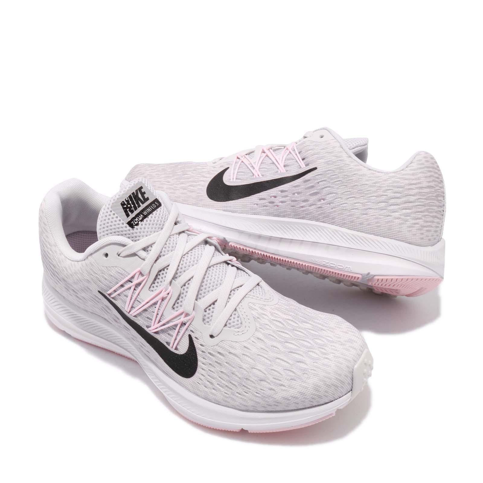 Nike Wmns Zoom Winflo 5 Grey Black Pink Womens Running ...