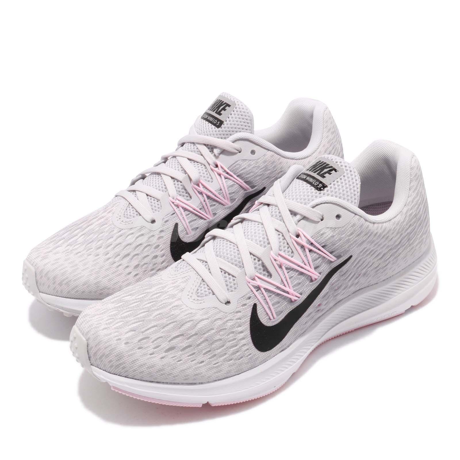 Destrucción Polar Comunista  Nike Wmns Zoom Winflo 5 Grey Black Pink Womens Running Shoes AA7414-013 |  eBay