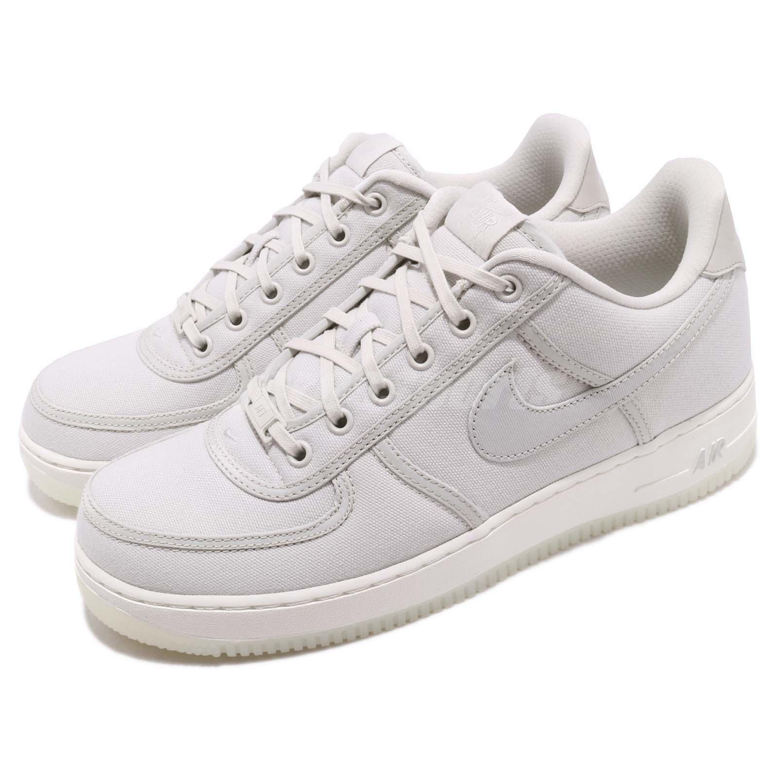 a5cf18333 Details about Nike Air Force 1 Low Retro QS CNVS Canvas Light Bone Mens  Shoes AF1 AH1067-003