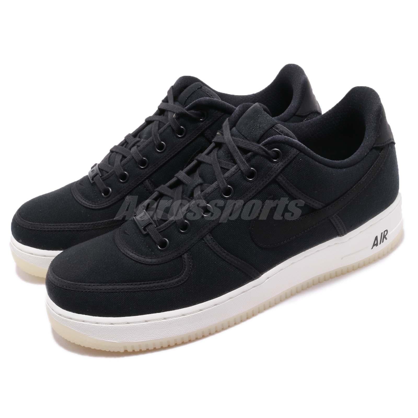wholesale dealer 21a99 3b051 Details about Nike Air Force 1 Low Retro QS CNVS Black White Canvas Mens  Shoes AF1 AH1067-004