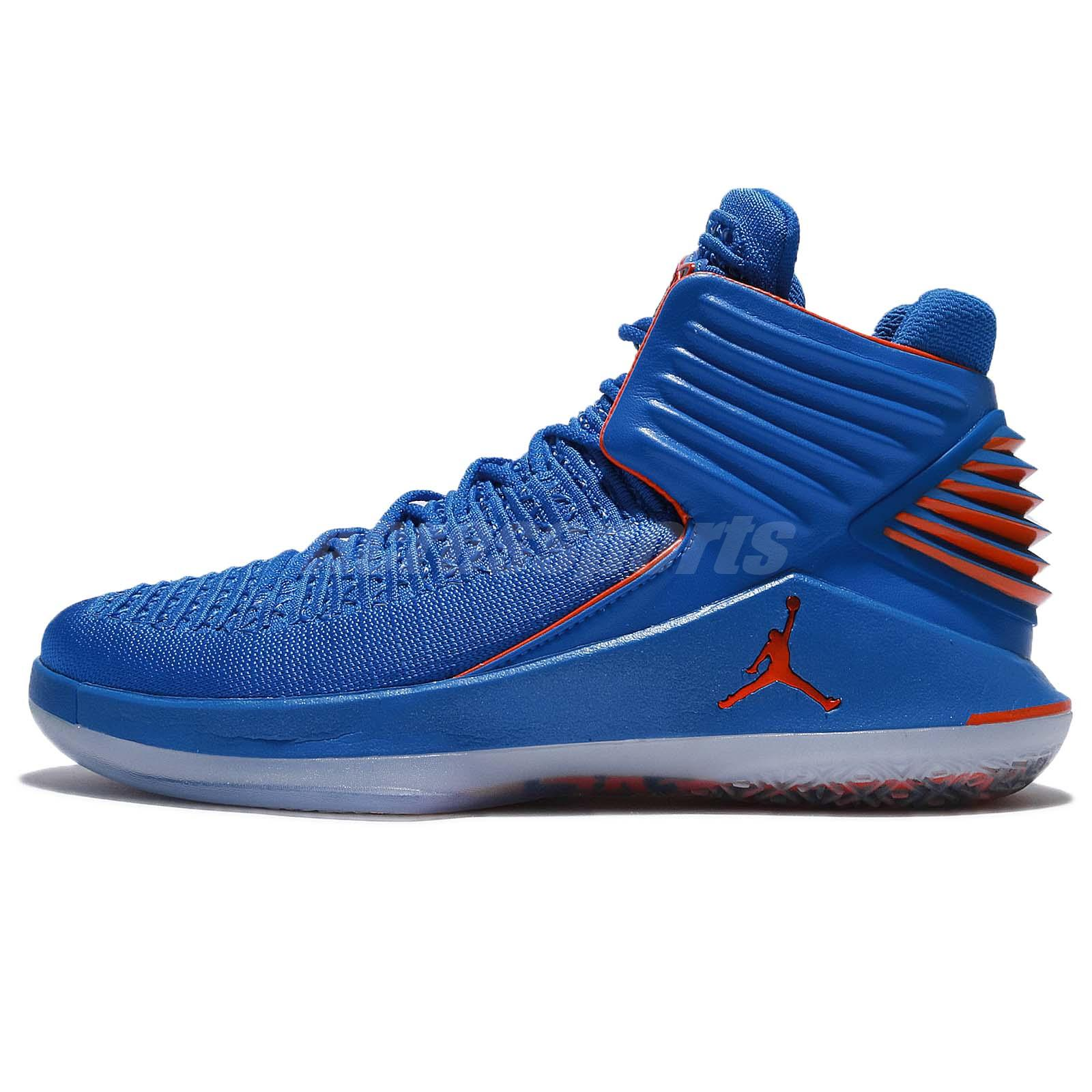 831a995fc6e3 Nike Air Jordan XXXII PF 32 AJ32 Blue Orange Men Shoes Sneakers AH3348-400
