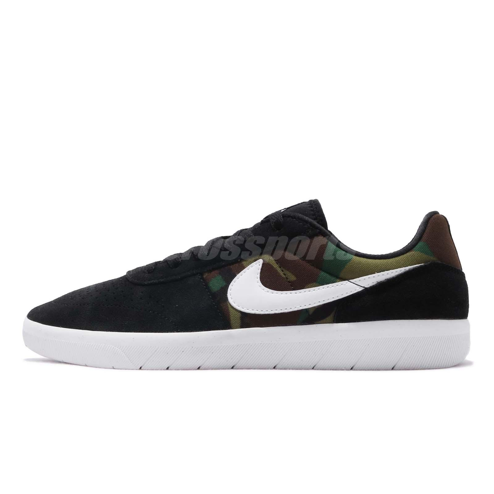 c68bafe8cc Details about Nike SB Team Classic Black White Green Camo Men Skate  Boarding Shoes AH3360-006