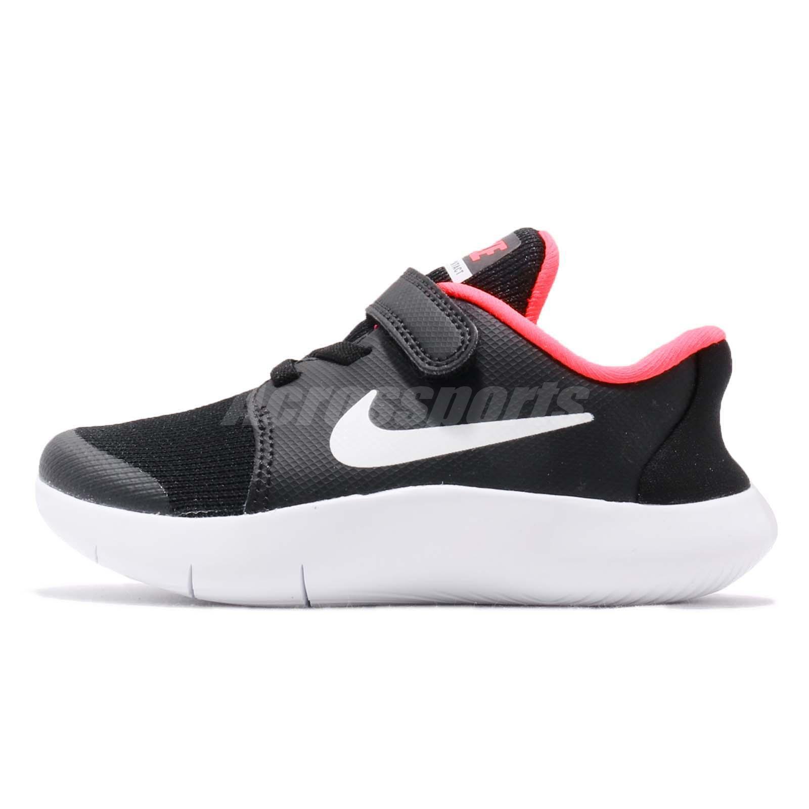 buy popular 99c16 d62ec Nike Flex Contact 2 TDV II Black White Toddler Infant Running Shoes  AH3450-001